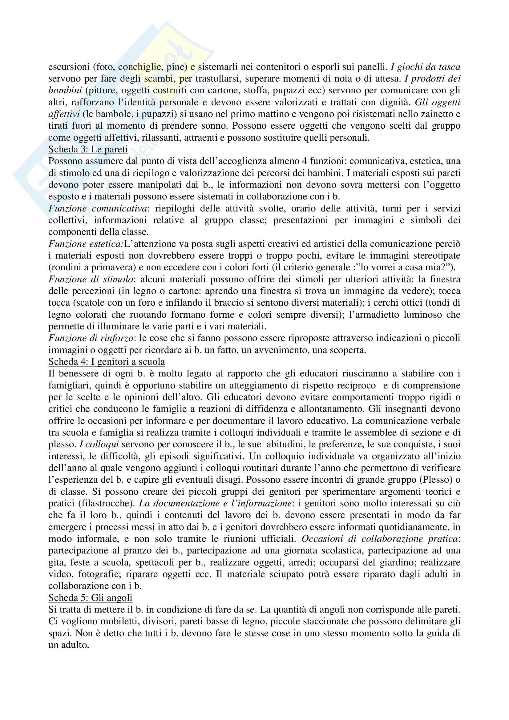 Riassunto esame Attività Ludiche e di Animazione Educativa, prof. Staccioli, libro consigliato Diario dell'accoglienza di Staccioli Pag. 6