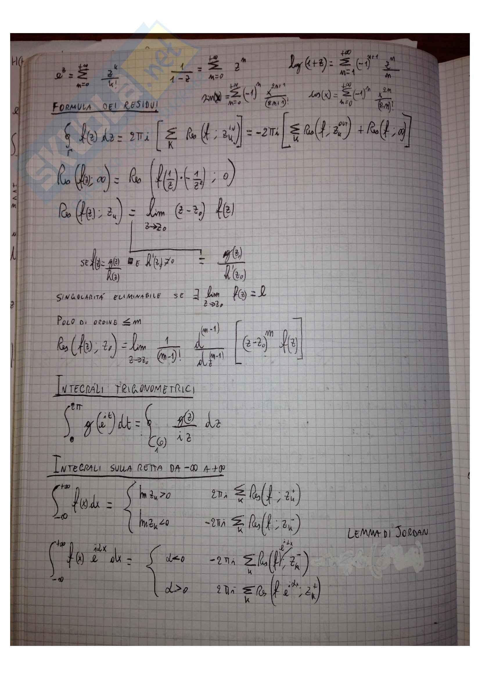 Metodi matematici per l'ingegneria - Formulario Pag. 2