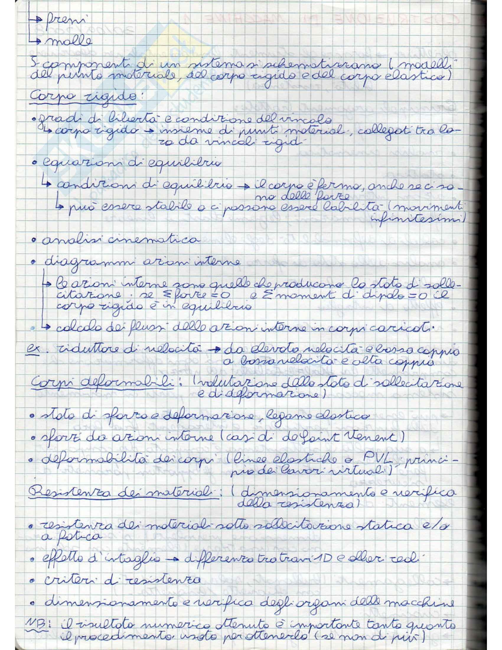 Costruzione di macchine 1 - Appunti Pag. 2