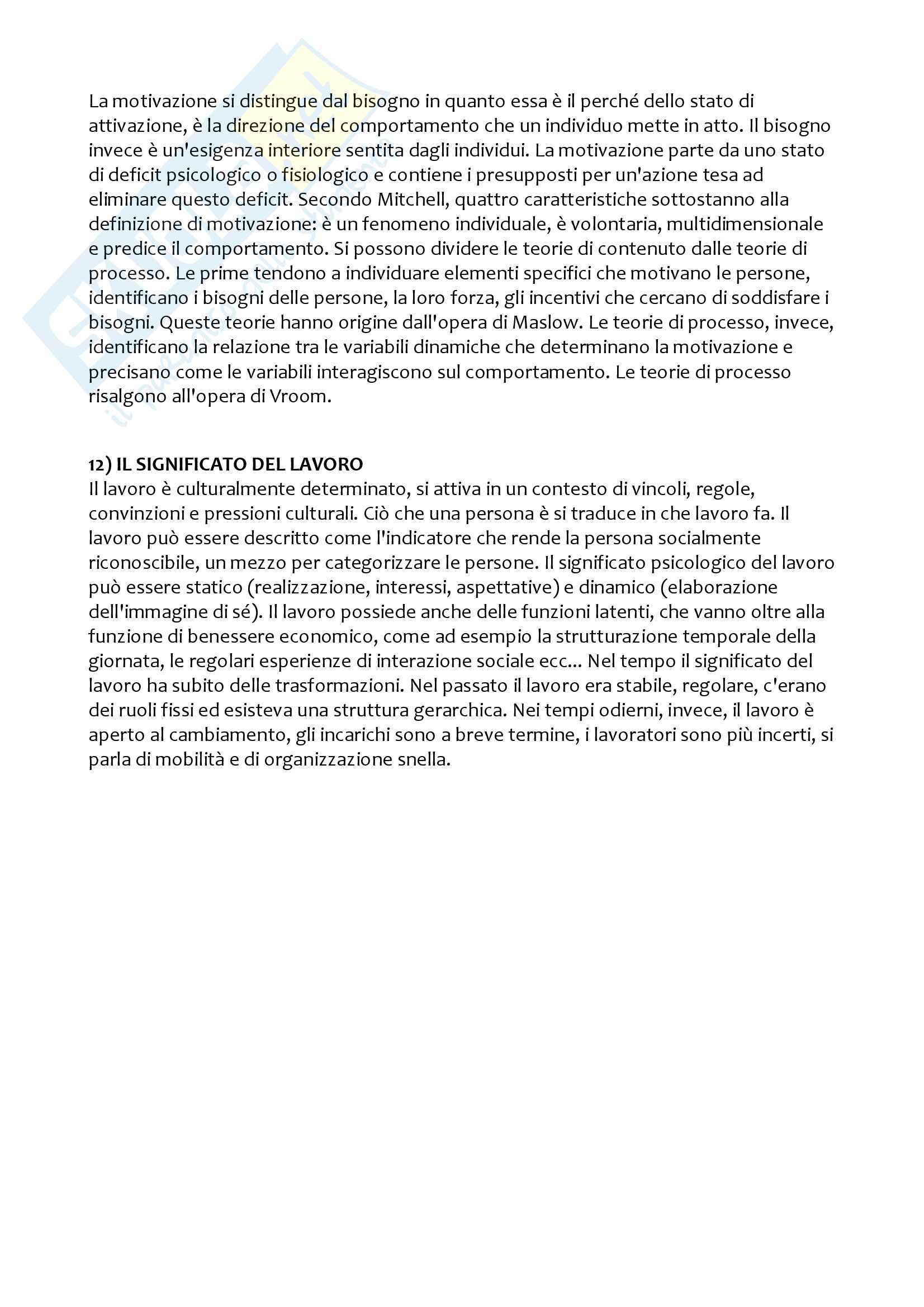 Esercitazione Psicologia del lavoro Pag. 6