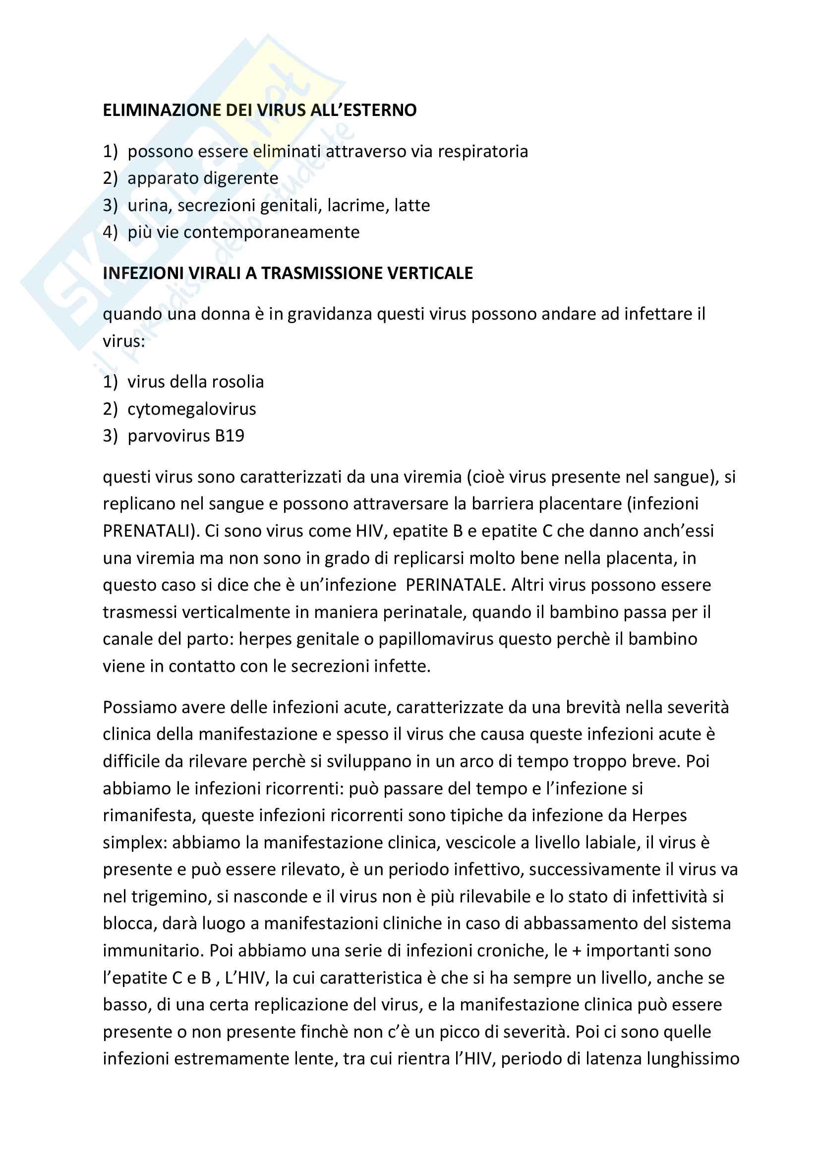 Riassunto insegnamento Virologia Pag. 21