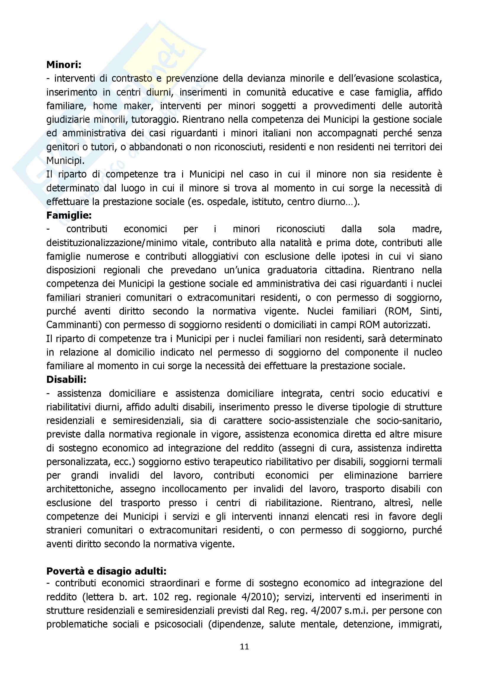 Relazione ruolo assistente sociale comune approfondimento Pag. 11