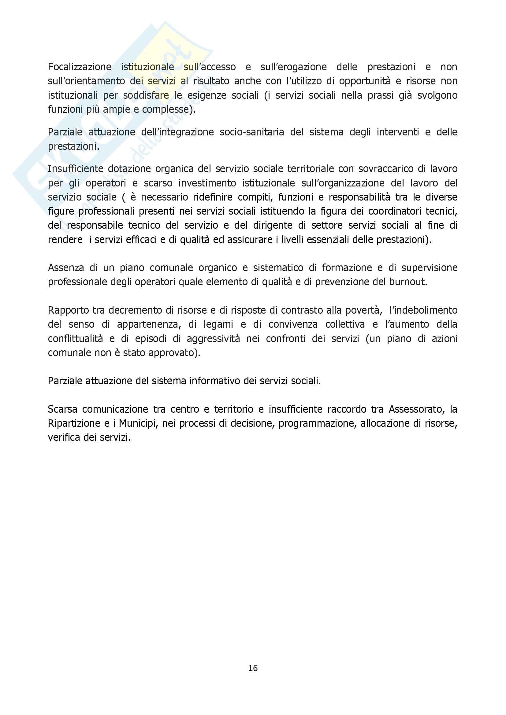 Relazione ruolo assistente sociale comune approfondimento Pag. 16