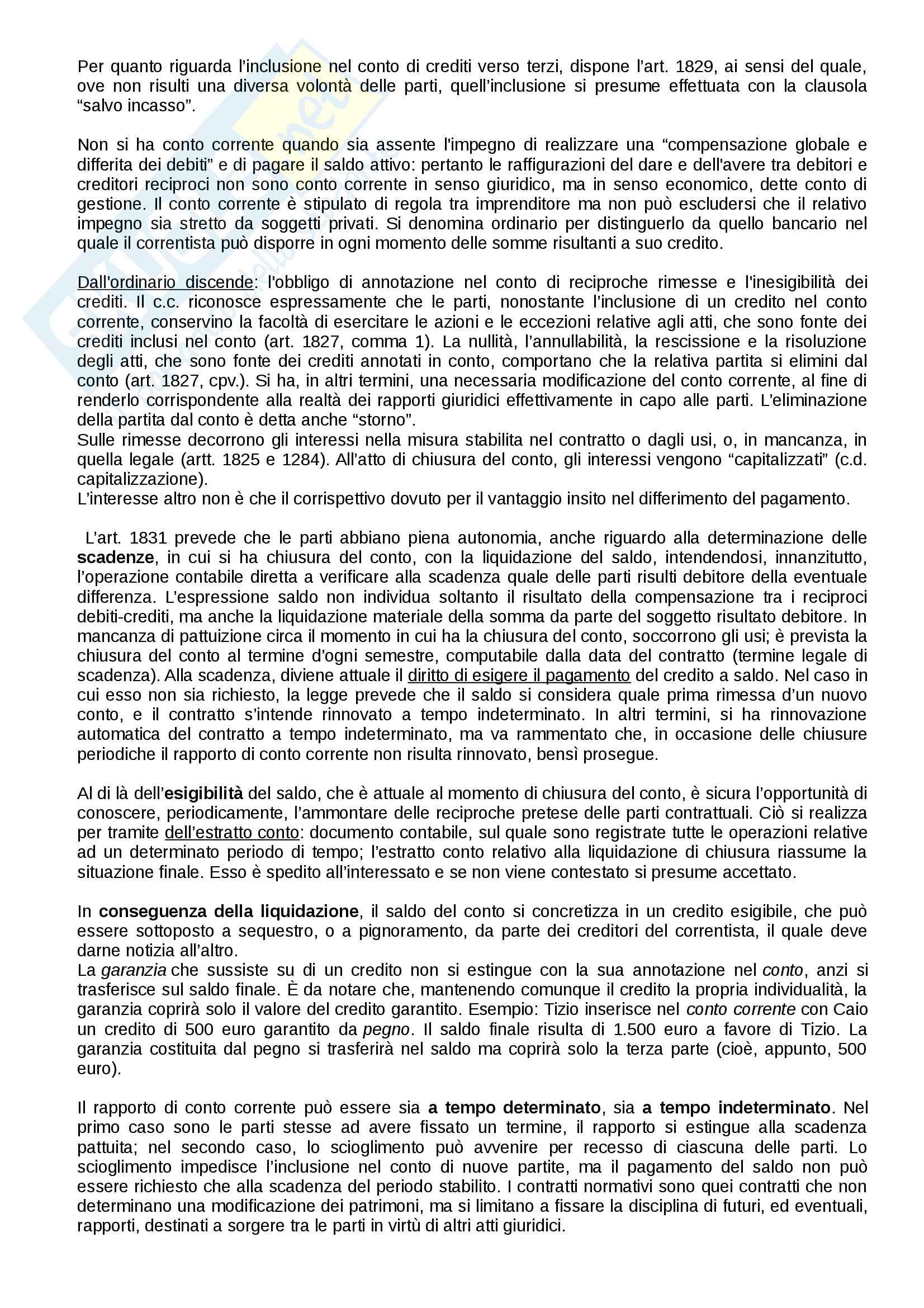 Riassunto esame diritto privato II sui contratti tipici e atipici, prof. Gemma, Battelli, libro consigliato Istituzioni di diritto privato Bessone Pag. 31