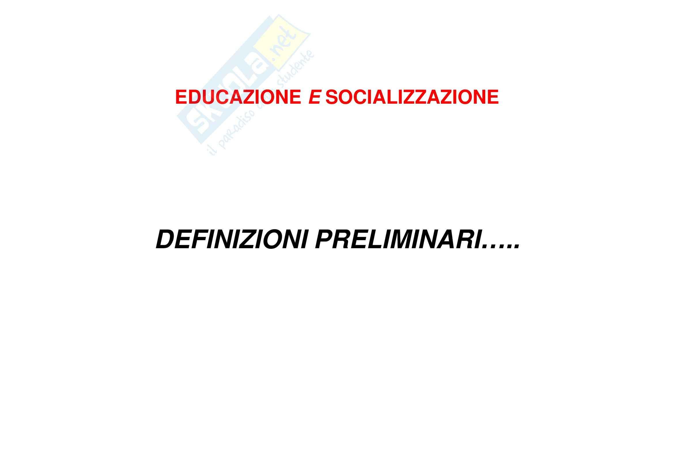 Educazione e socializzazione