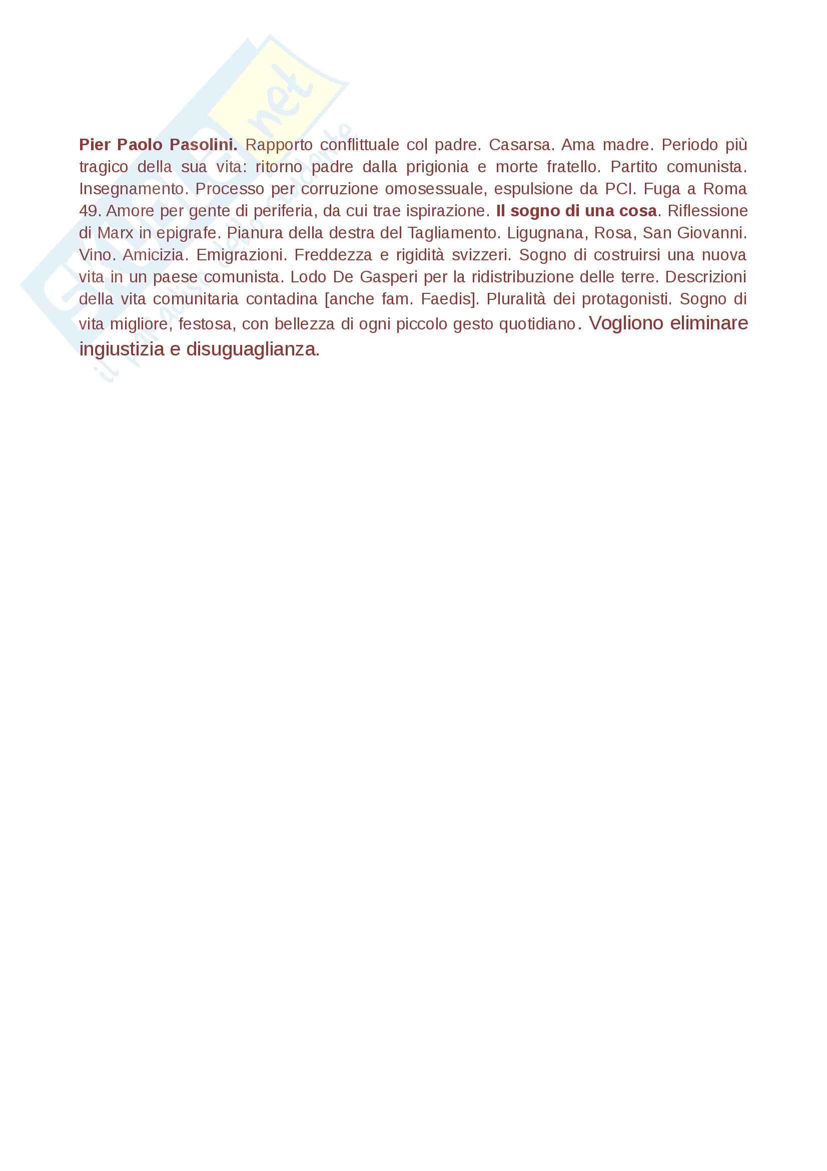 Riassunto esame Letteratura italiana, prof. Gallo Pag. 6