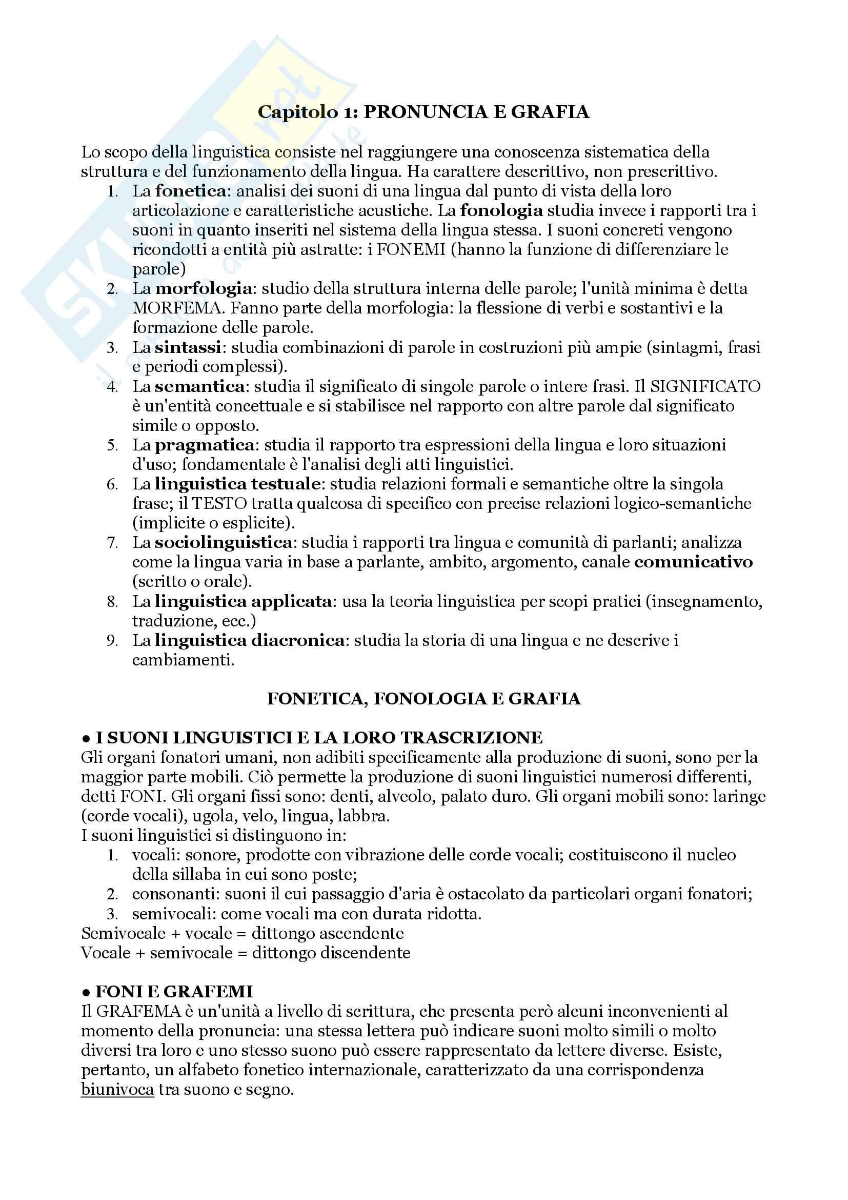 """Riassunto per l'esame di Lingua Tedesca I, prof. Di Meola, libro consigliato """"Linguistica Tedesca"""", cap. 1 e 2, Di Meola"""