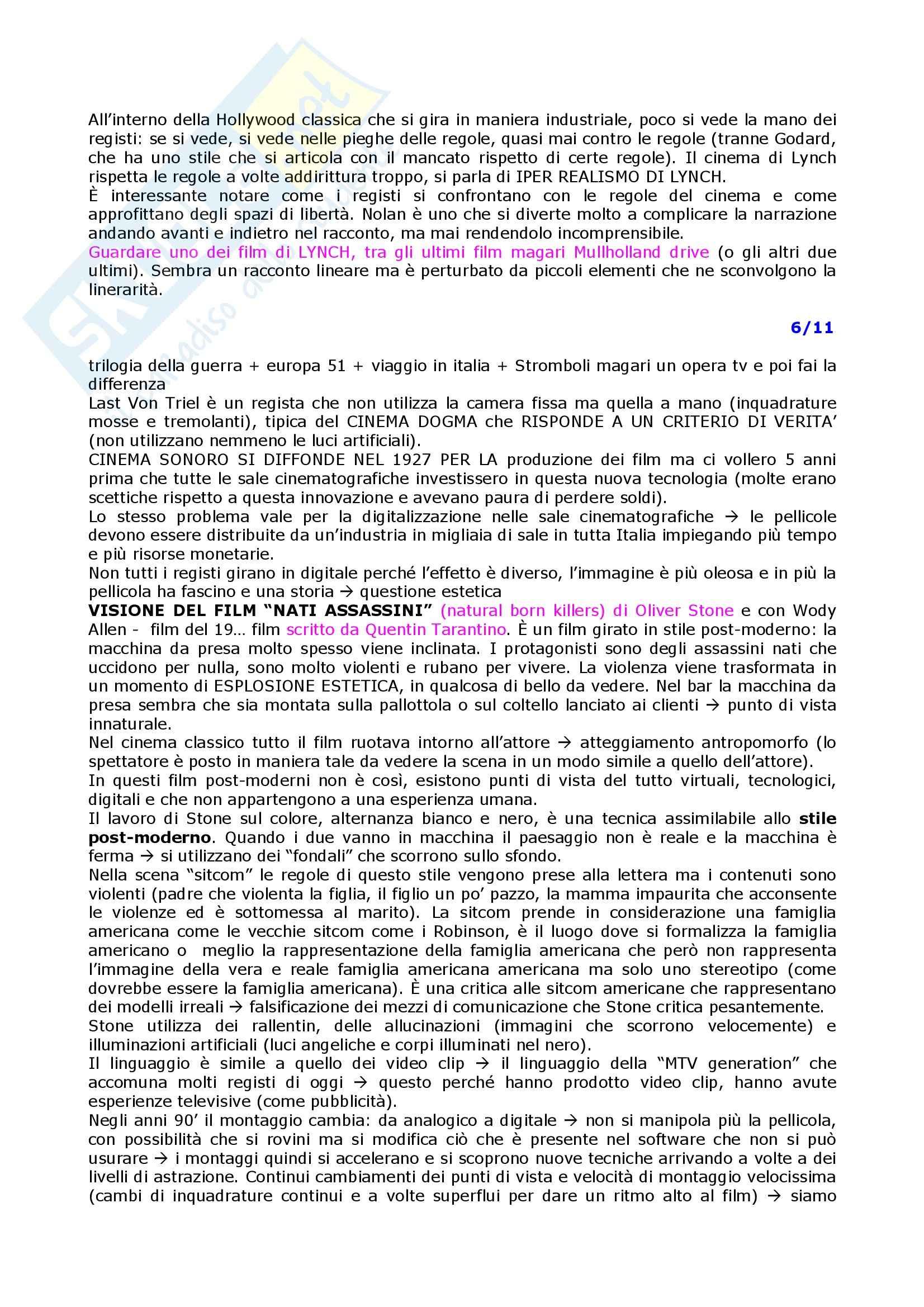 Linguaggi audiovisivi - teorie e tecniche dei linguaggi audiovisivi Pag. 11