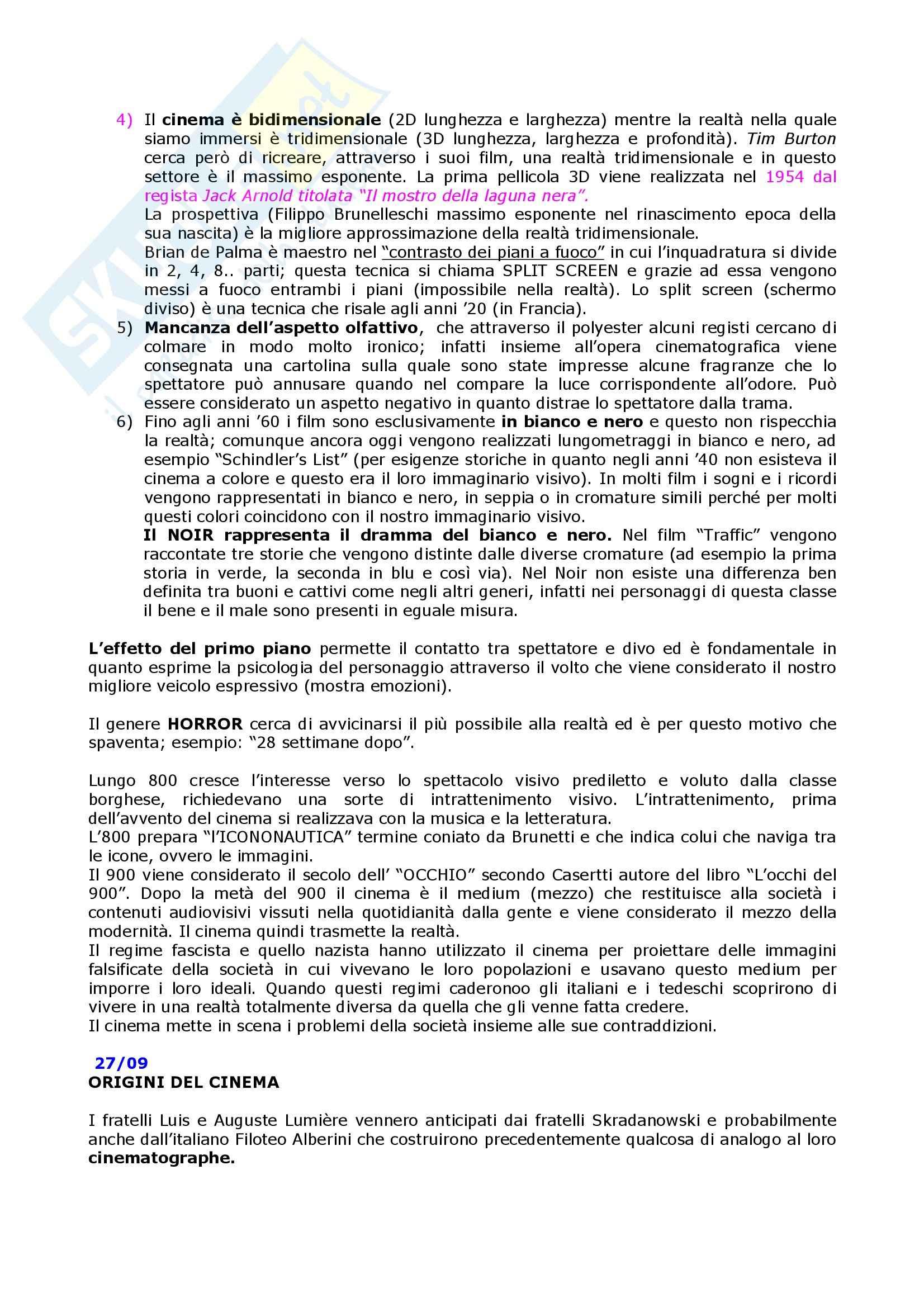Linguaggi audiovisivi - teorie e tecniche dei linguaggi audiovisivi Pag. 2