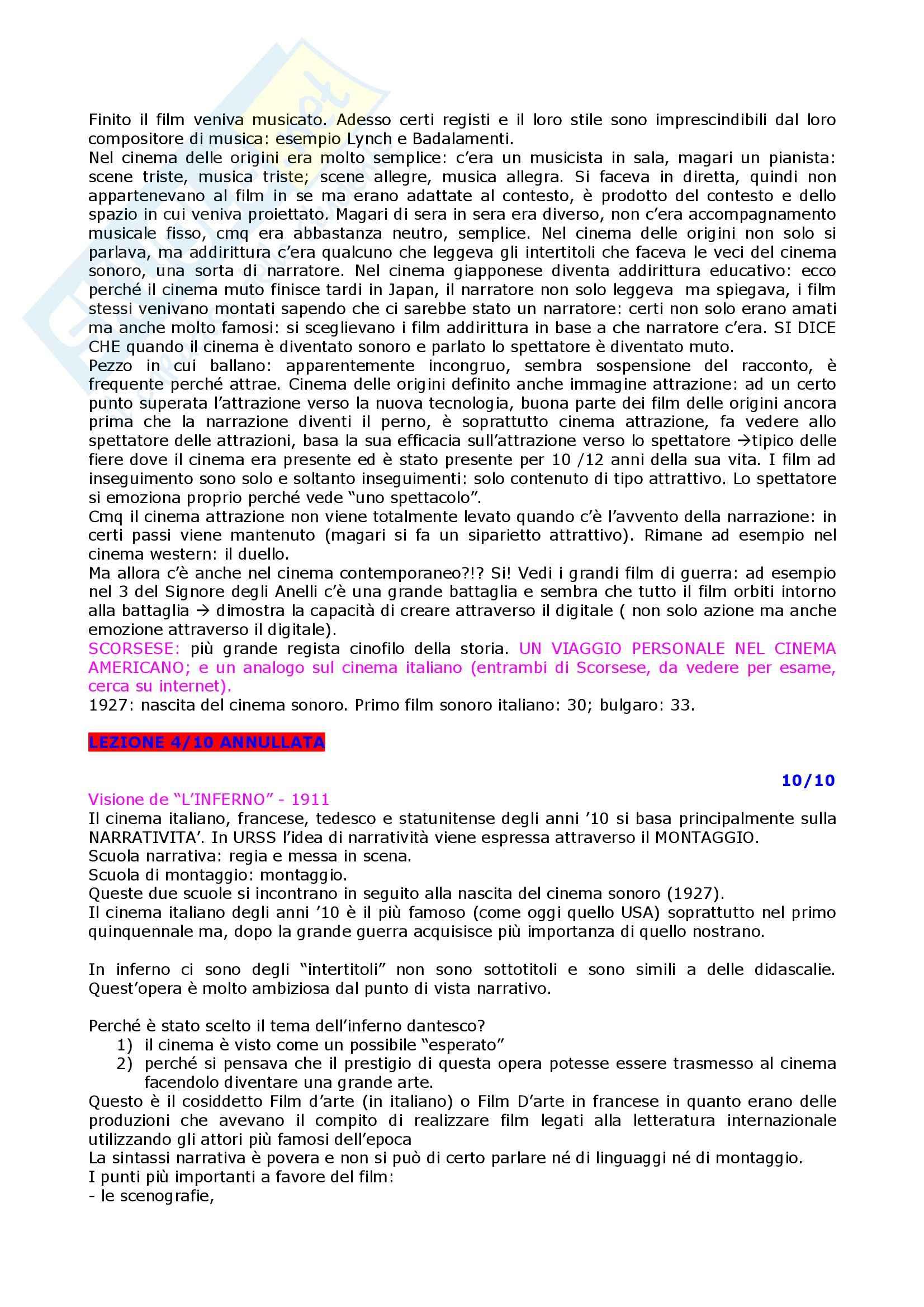 Linguaggi audiovisivi - teorie e tecniche dei linguaggi audiovisivi Pag. 6