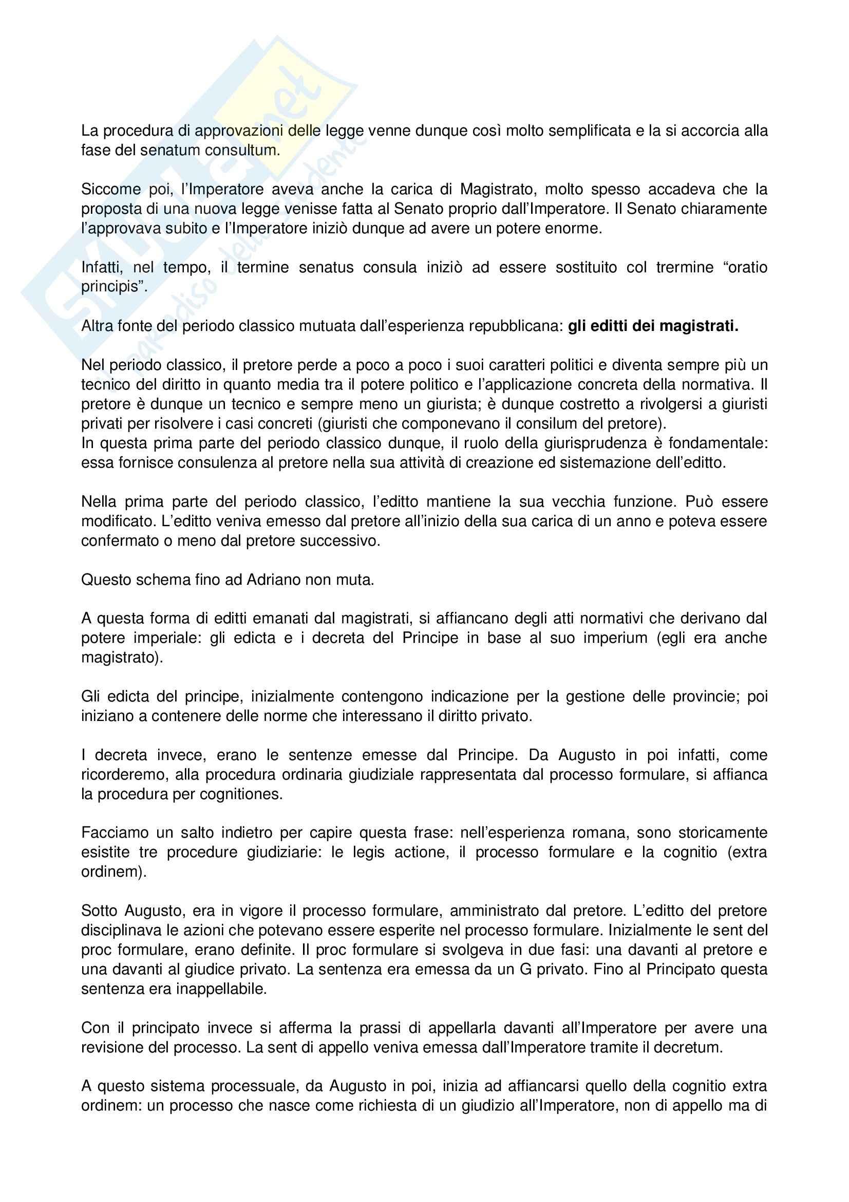 Diritto romano - le fonti del diritto classico Pag. 2