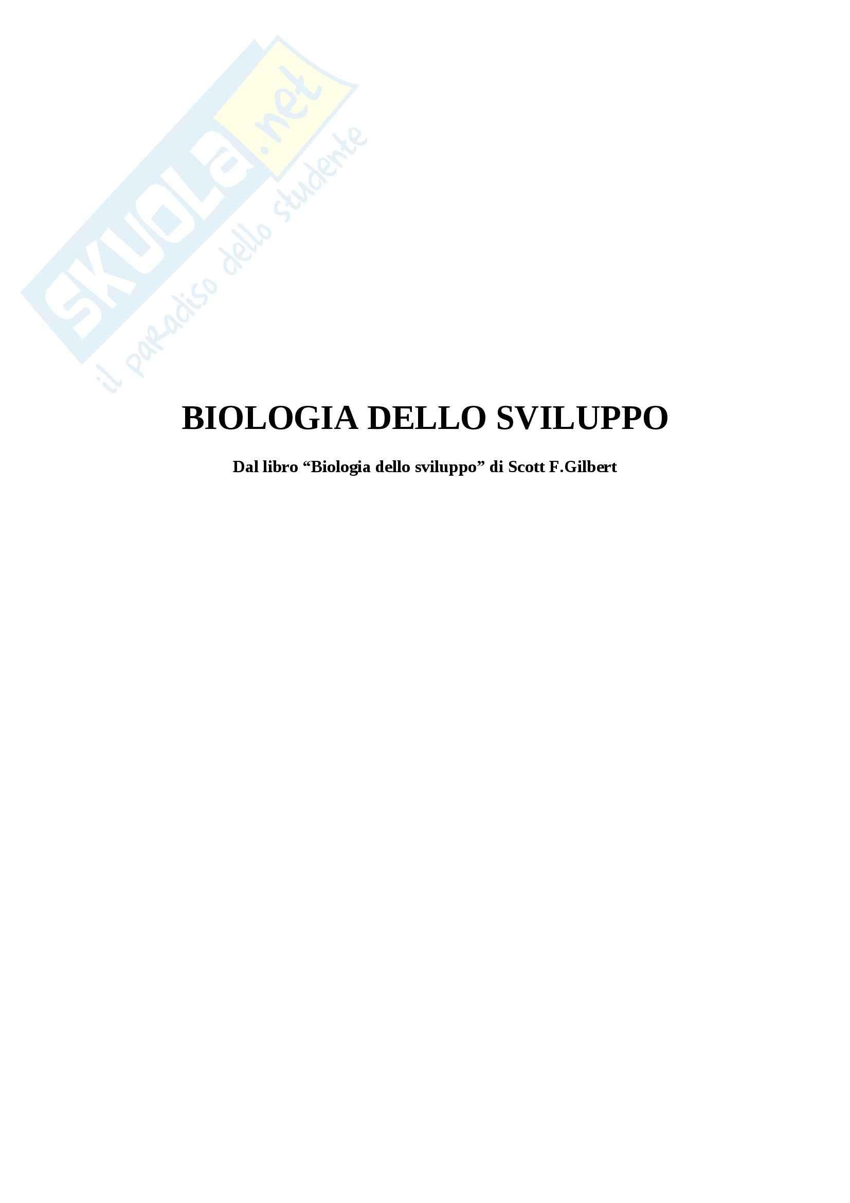 Riassunto esame Biologia dello Sviluppo, prof. Moreno, libro consigliato Biologia dello Sviluppo di Scott