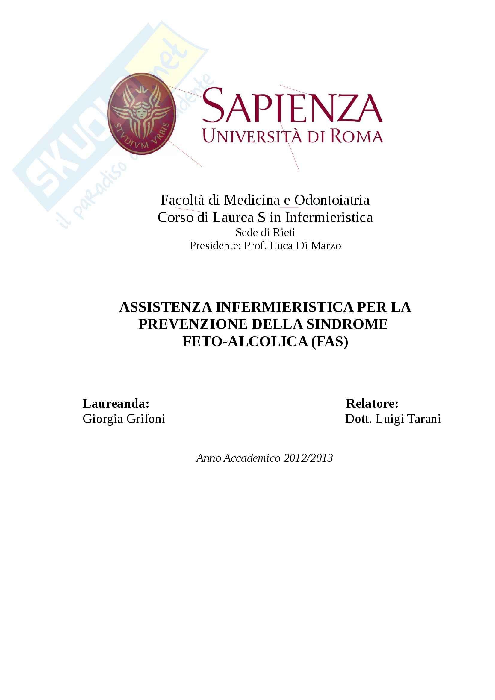 Sindrome fetoalcolica, Pediatria