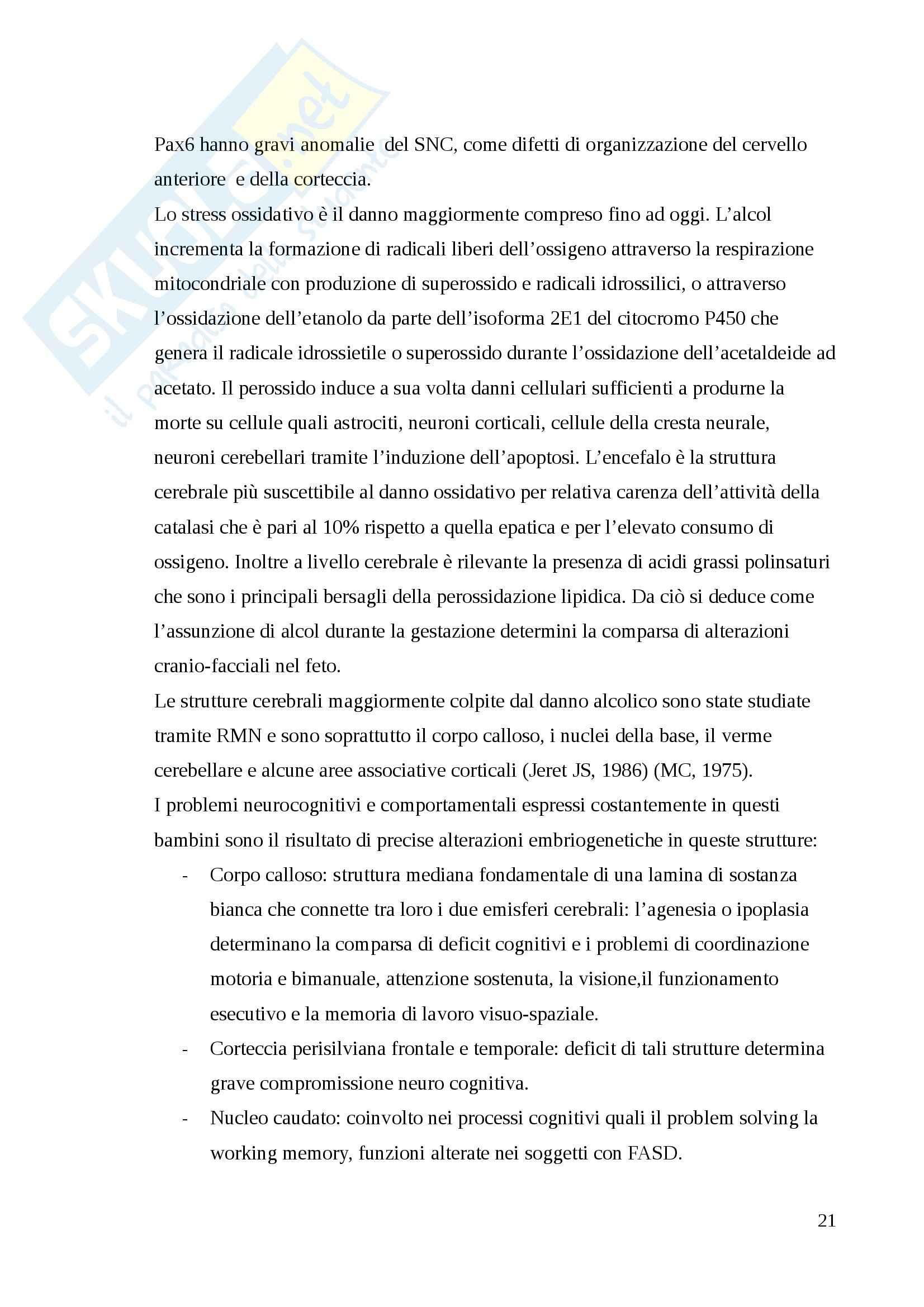 Sindrome fetoalcolica, Pediatria Pag. 21