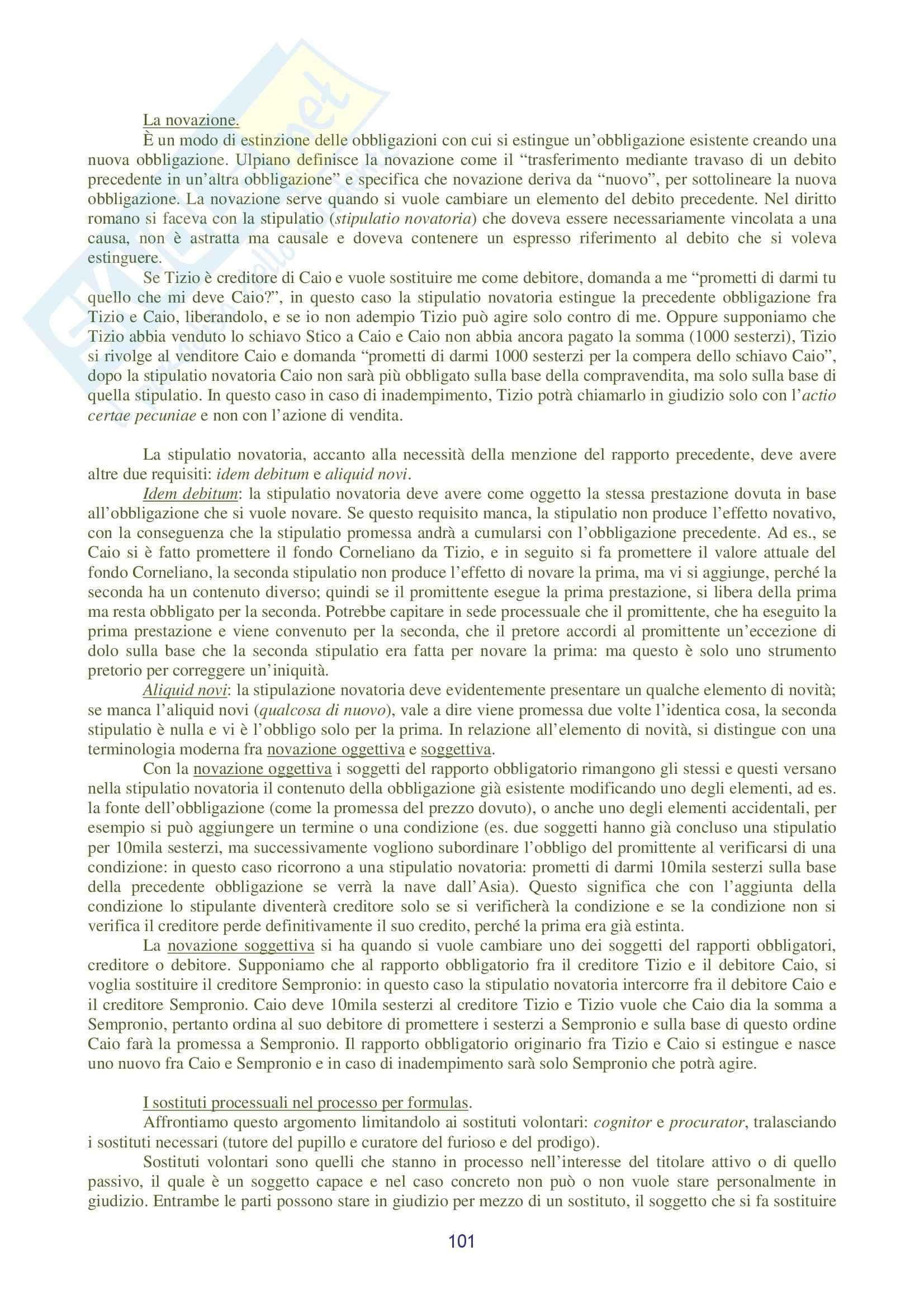 Riassunto esame Diritto Romano, prof. Ziliotto, libro consigliato Manuale di Diritto Privato Romano, Burdese Pag. 101