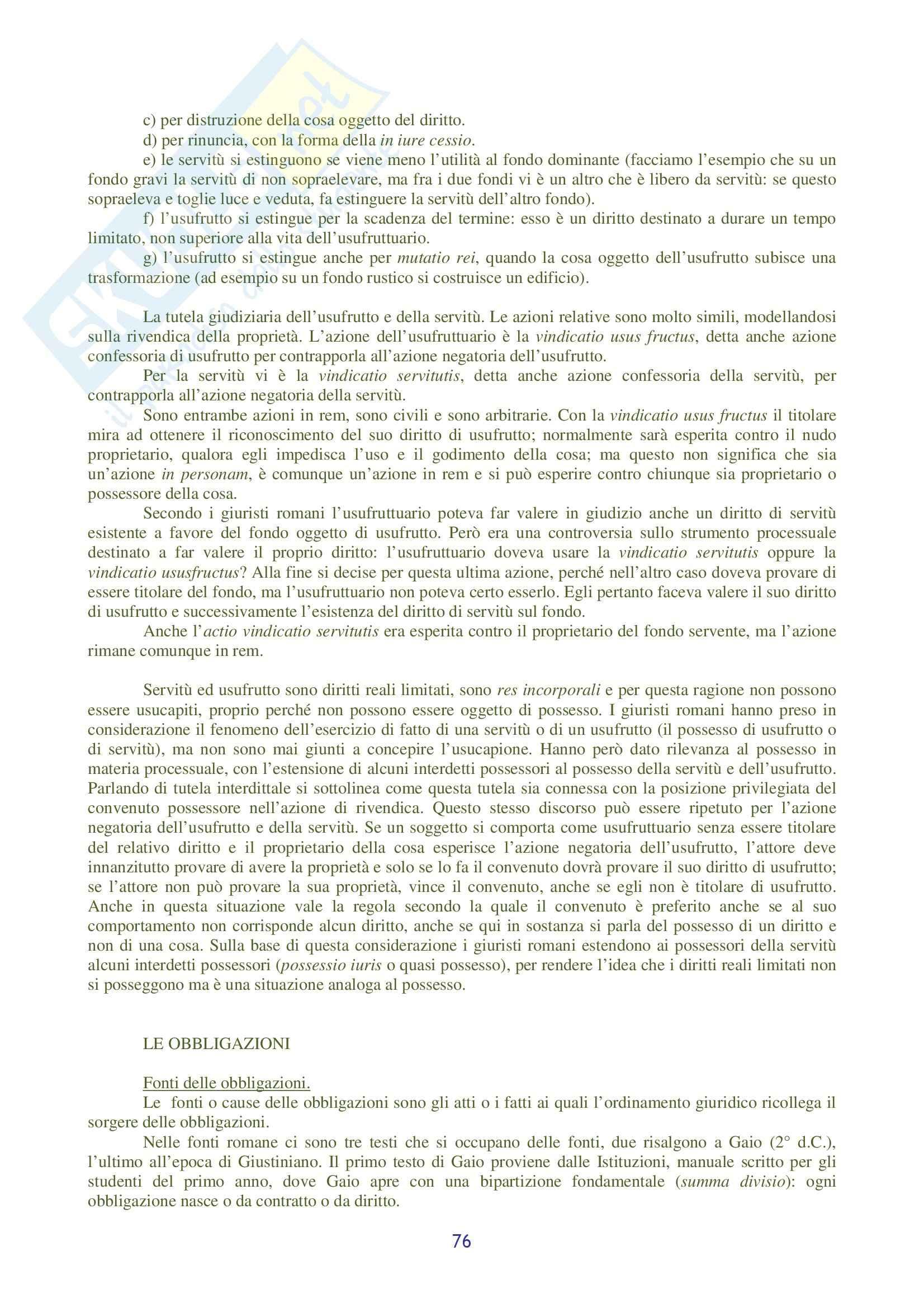 Riassunto esame Diritto Romano, prof. Ziliotto, libro consigliato Manuale di Diritto Privato Romano, Burdese Pag. 76