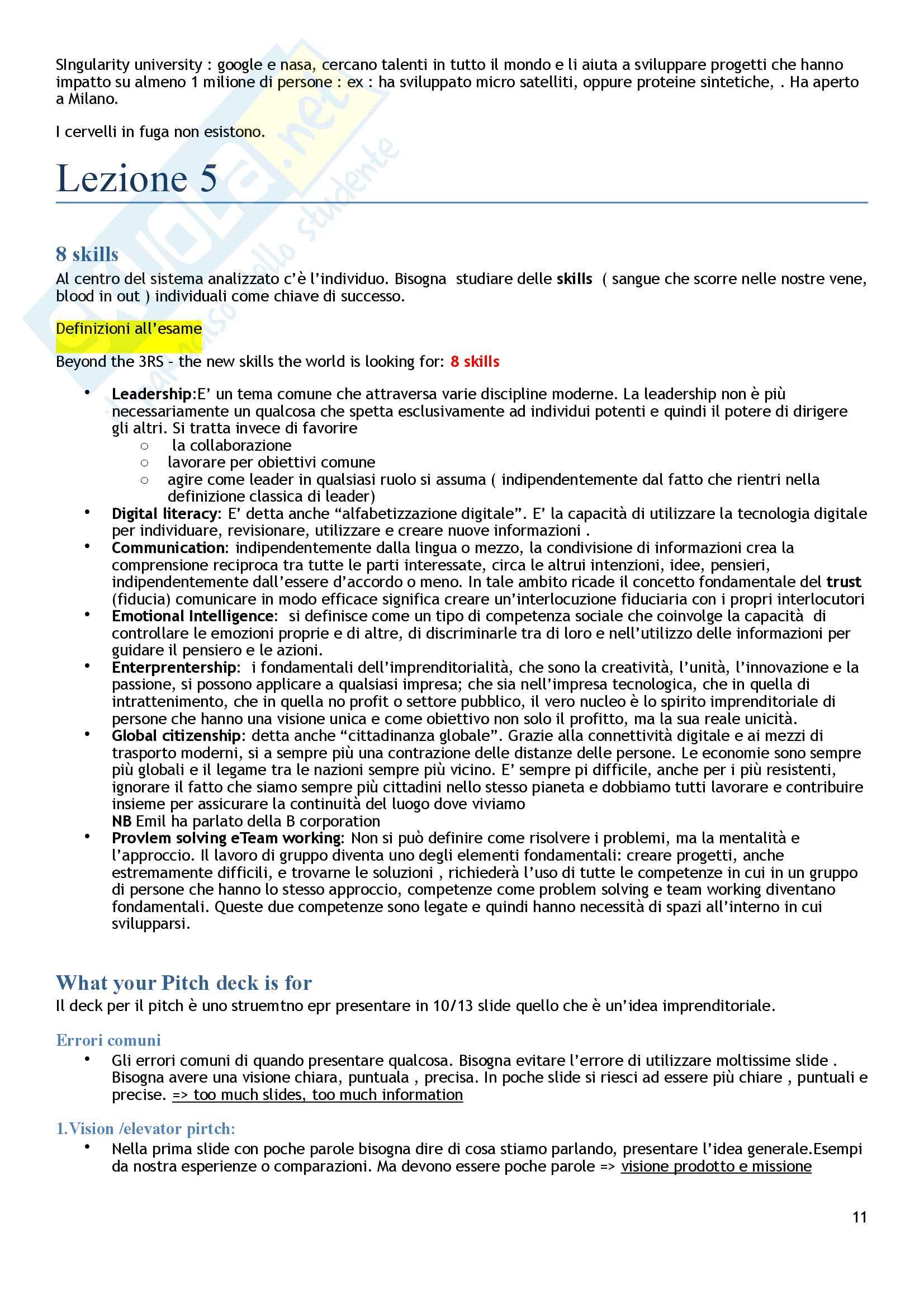 Strategia e Politica Aziendale  - 2°Parziale Pag. 11