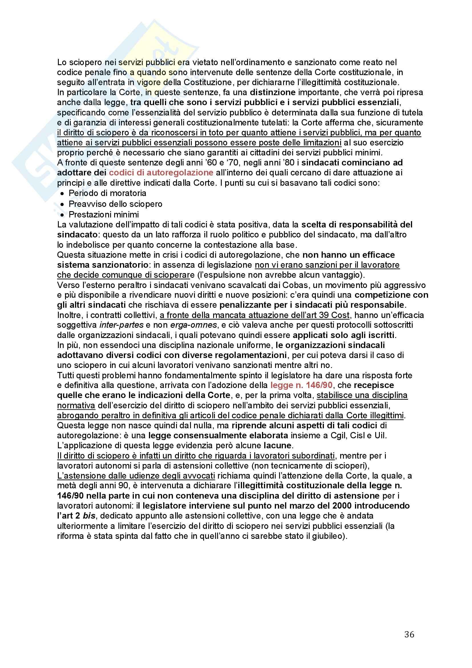 Diritto del lavoro - Appunti Pag. 36