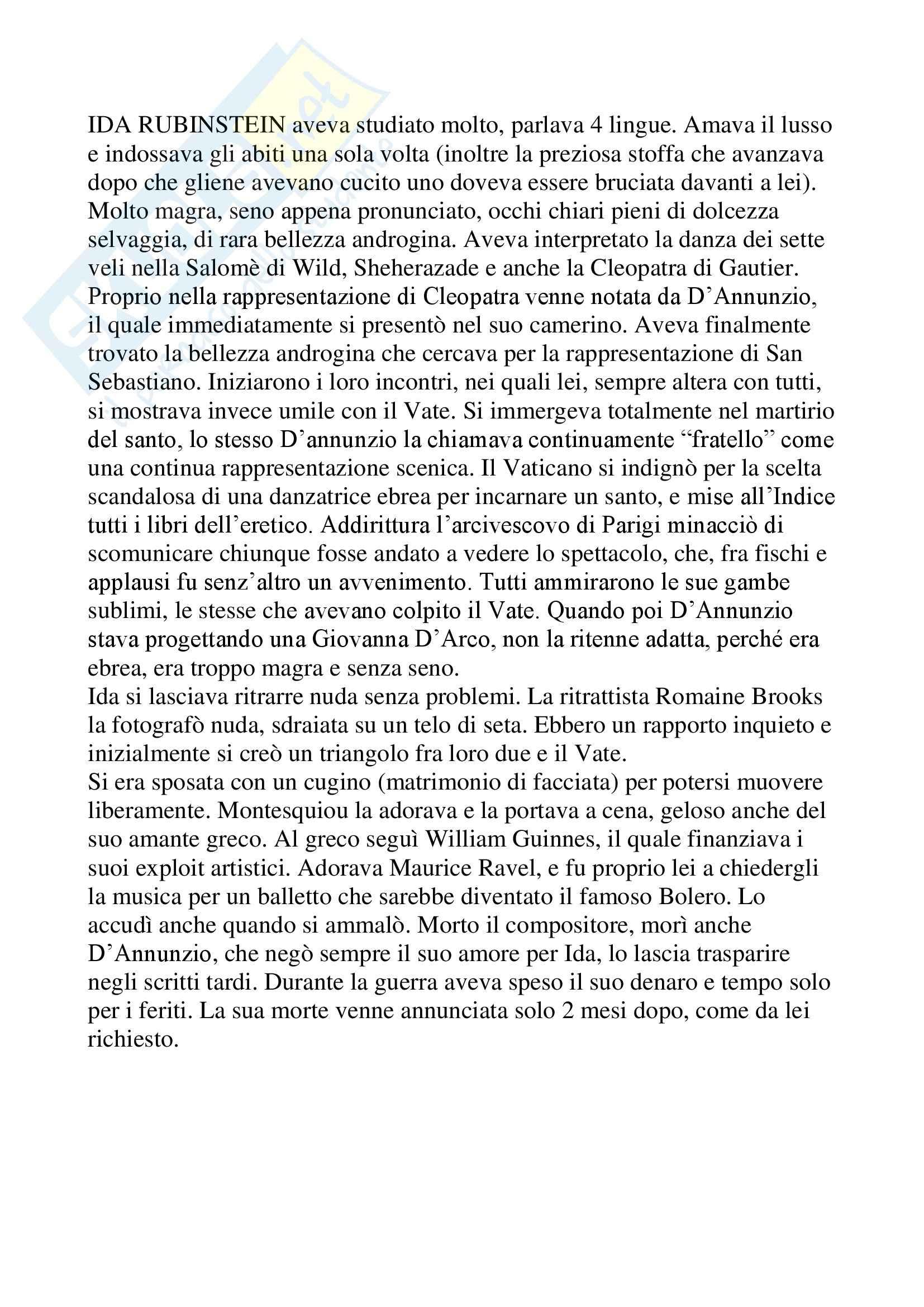 Letteratura francese - Ida Rubinstein