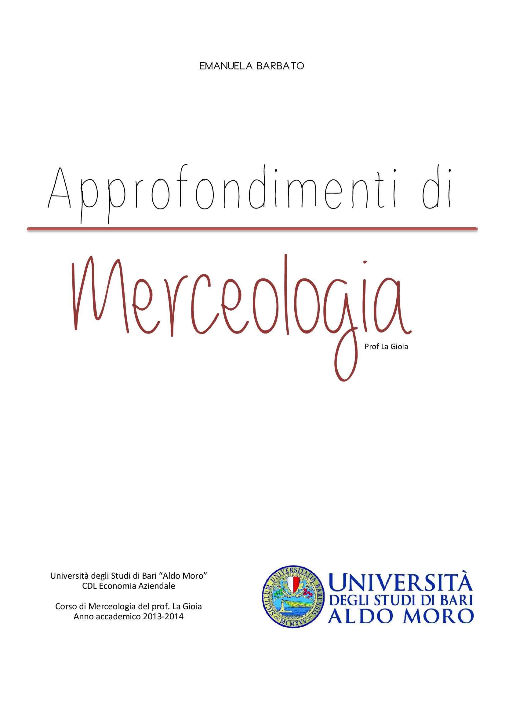 Merceologia - Appunti