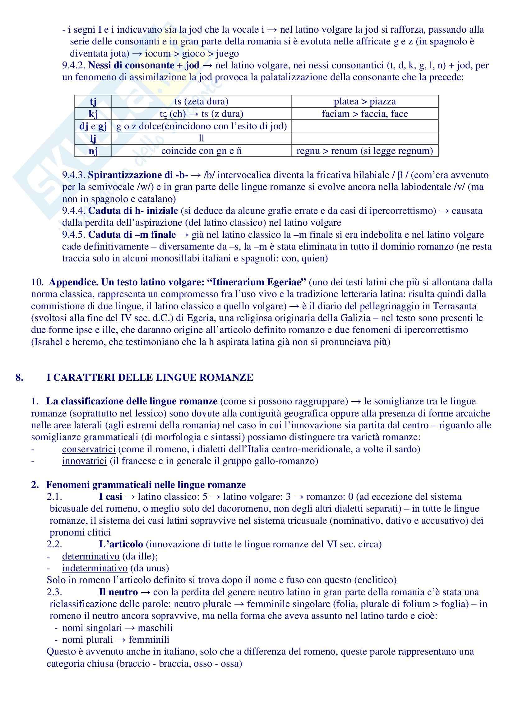Riassunto esame Filologia Romanza, prof. Sacchi, libro consigliato Manuale di Linguistica e Filologia Romanza, Renzi, Andreose Pag. 11