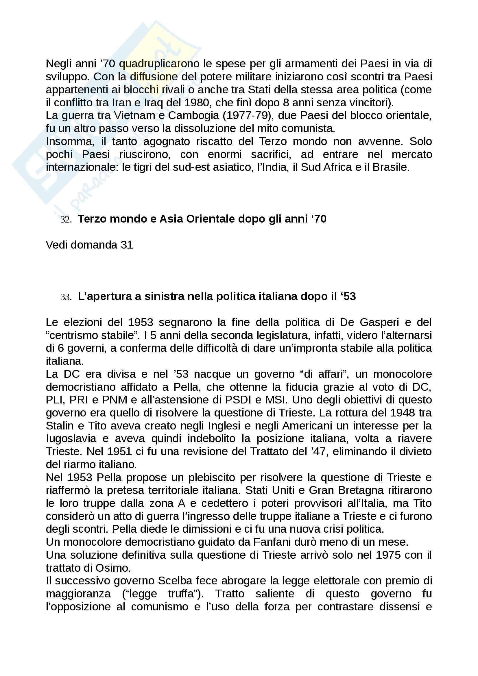 Domande e Risposte, Storia Contemporanea Pag. 41