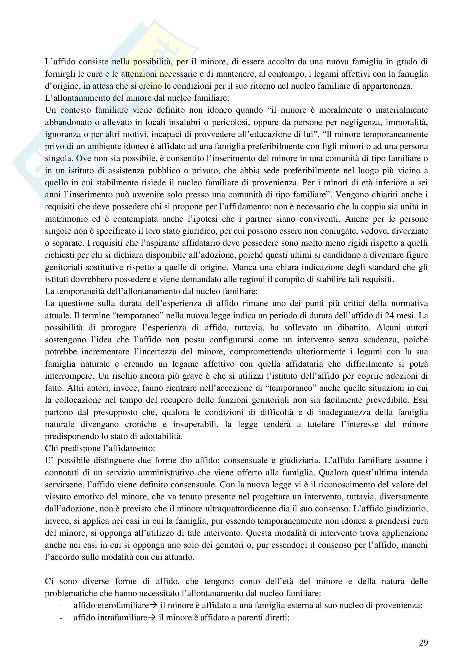 Riassunto esame Interventi a Sostegno della Genitorialità, prof. Cassibba, libro consigliato L'Affidamento Familiare Pag. 2