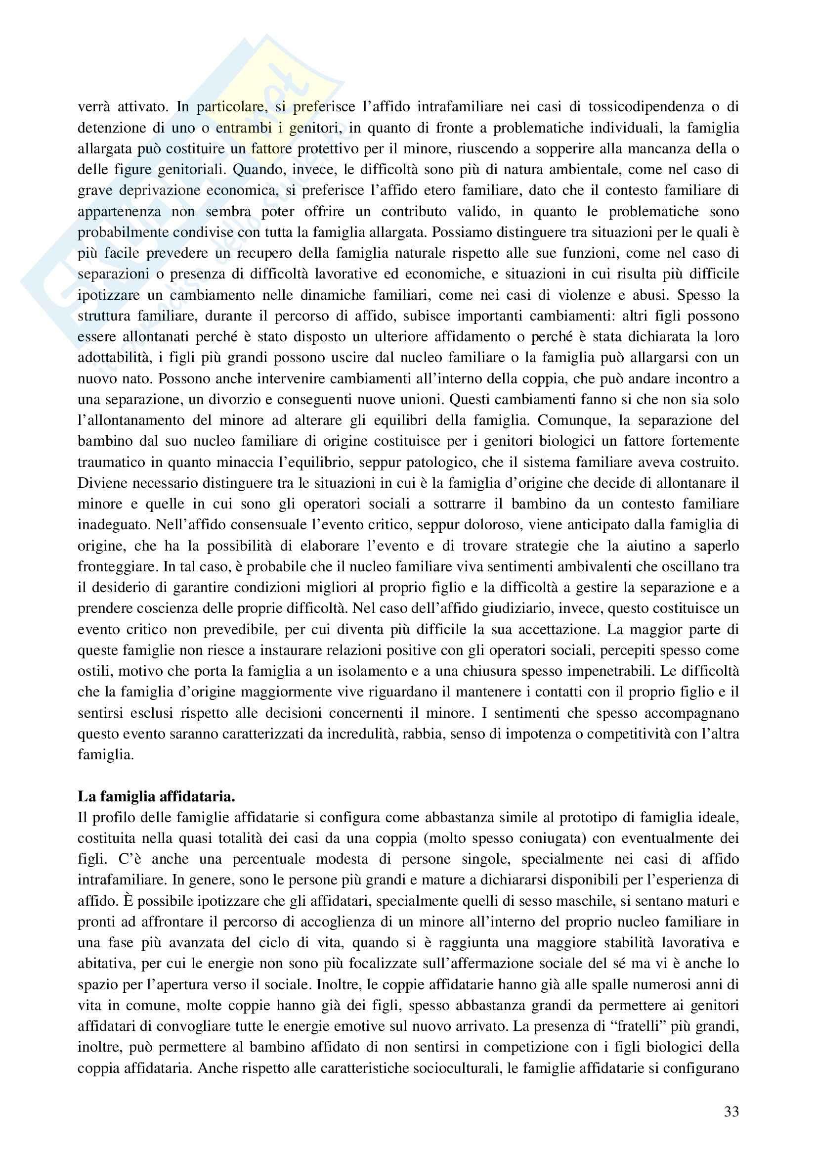 Riassunto esame Interventi a Sostegno della Genitorialità, prof. Cassibba, libro consigliato L'Affidamento Familiare Pag. 6