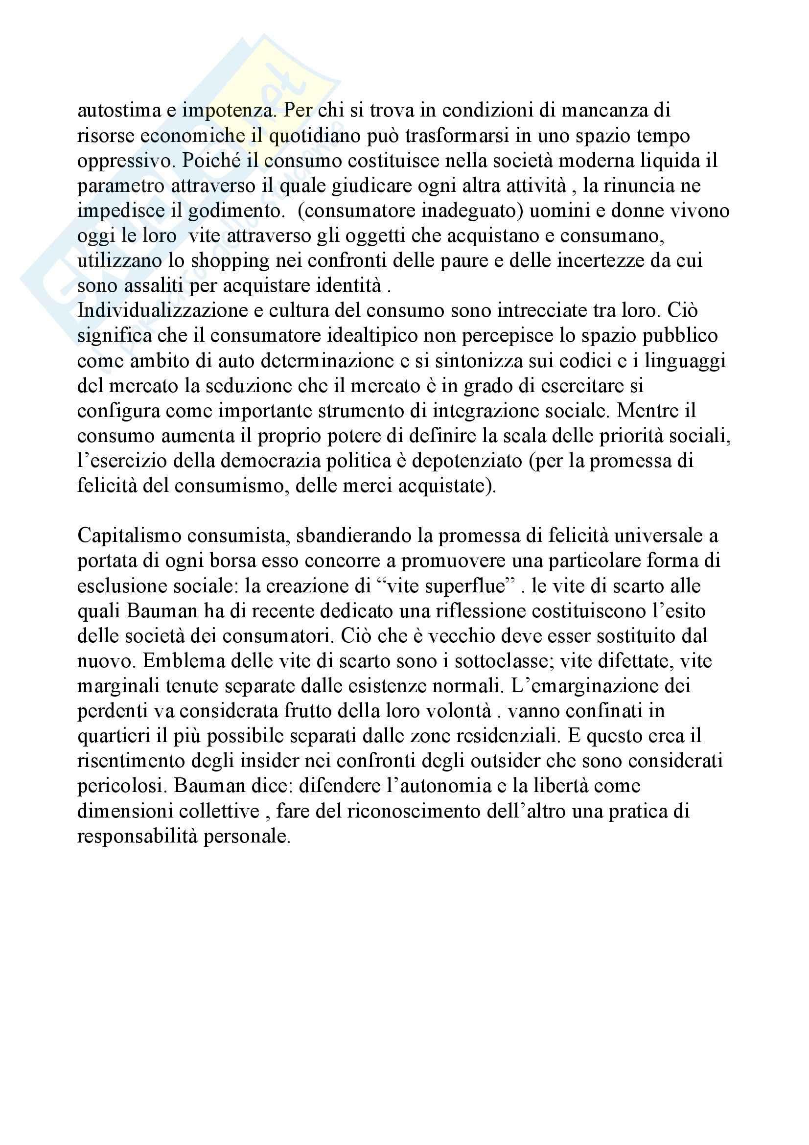 Teoria della modernità di Bauman Pag. 11