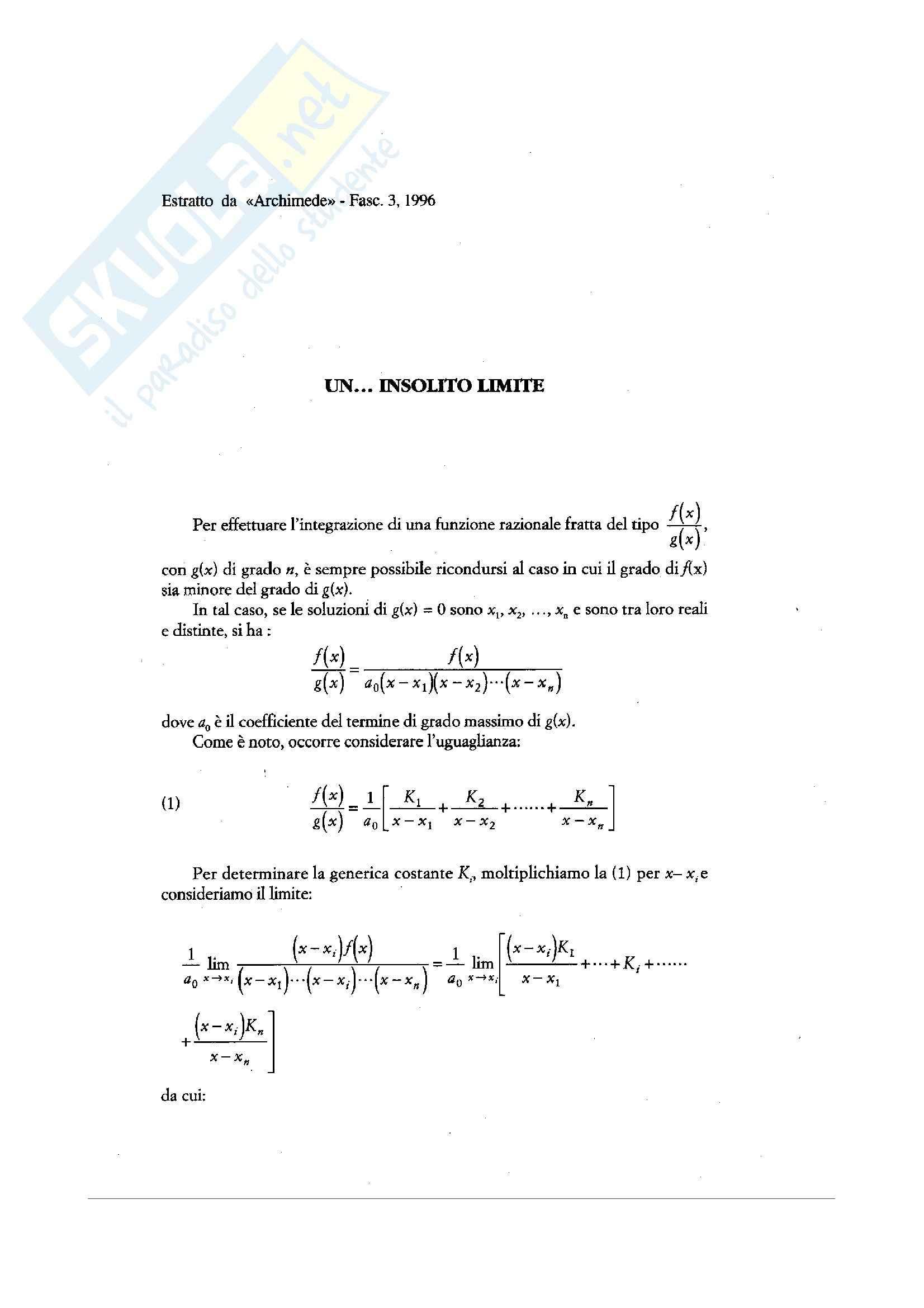 Matematica per le applicazioni I - limiti e successioni