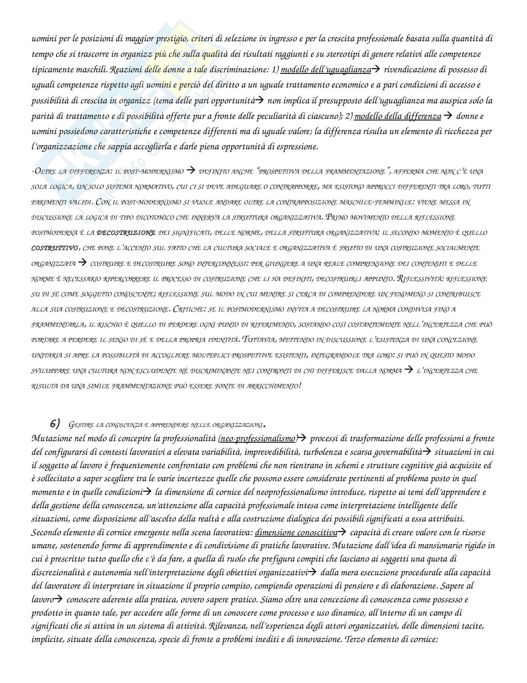 Riassunto esame Psicologia delle organizzazioni, prof. Di Fabio, libro consigliato Argentero, Cortese, Piccardo Pag. 11