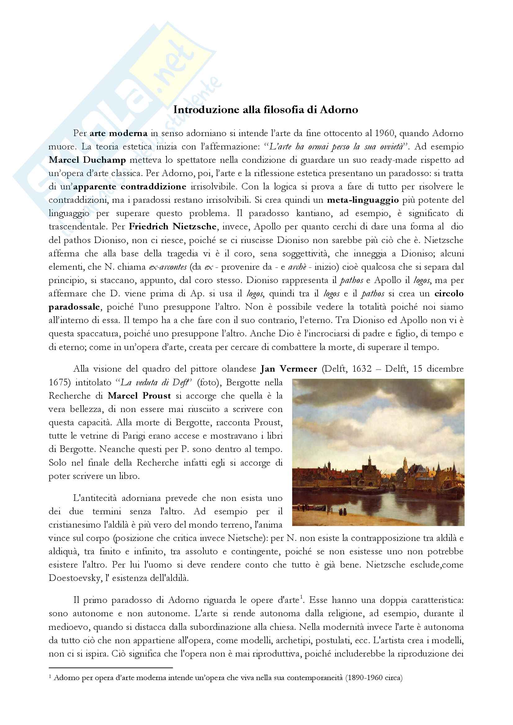 Th.W.Adorno - Teoria Estetica (Commentata e spiegata dal prof. Giuseppe Di Giacomo)