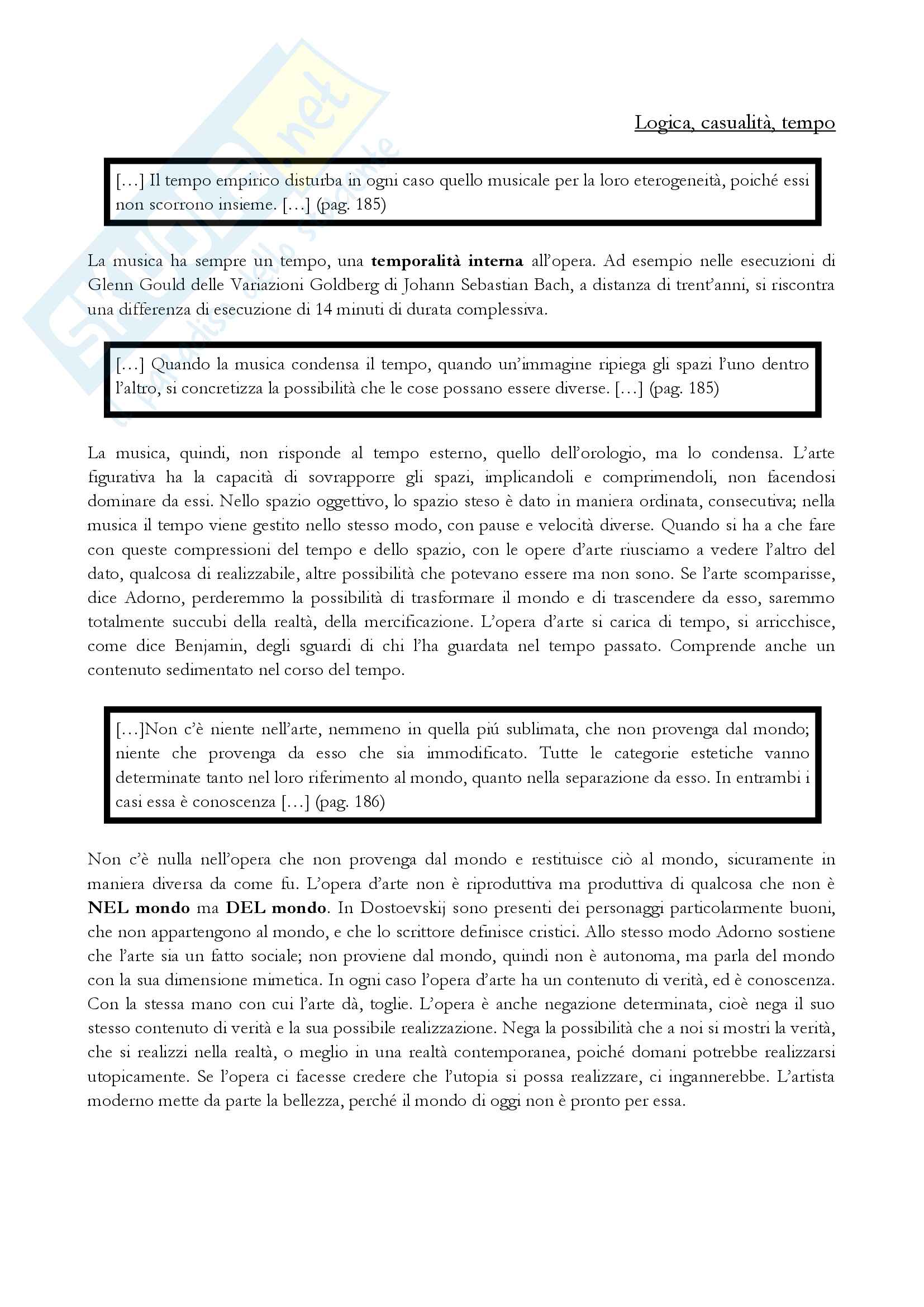Th.W.Adorno - Teoria Estetica (Commentata e spiegata dal prof. Giuseppe Di Giacomo) Pag. 16