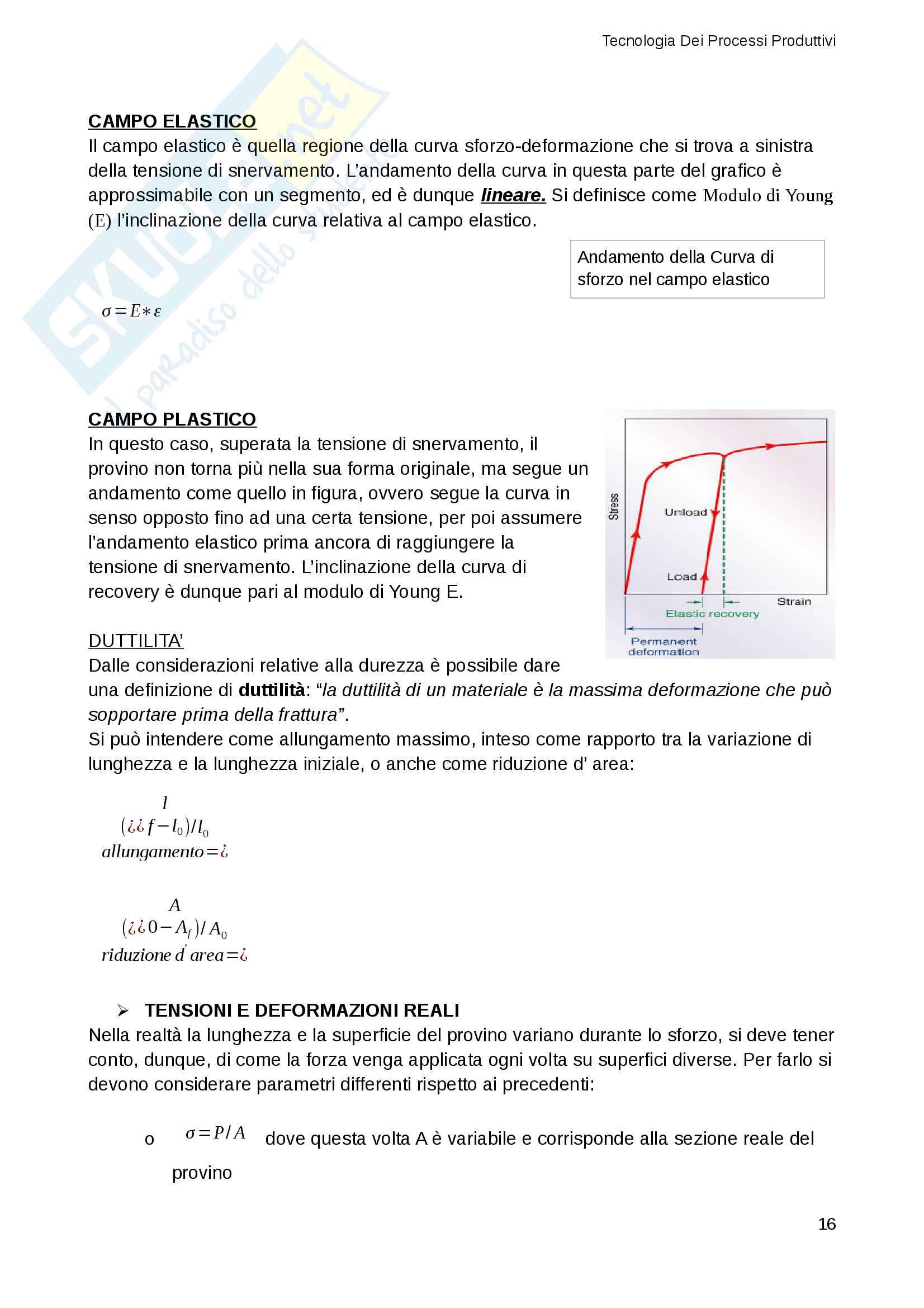 Appunti e Riassunti Tecnologia Dei Processi Produttivi (TPP), Gestionale Sapienza Pag. 16
