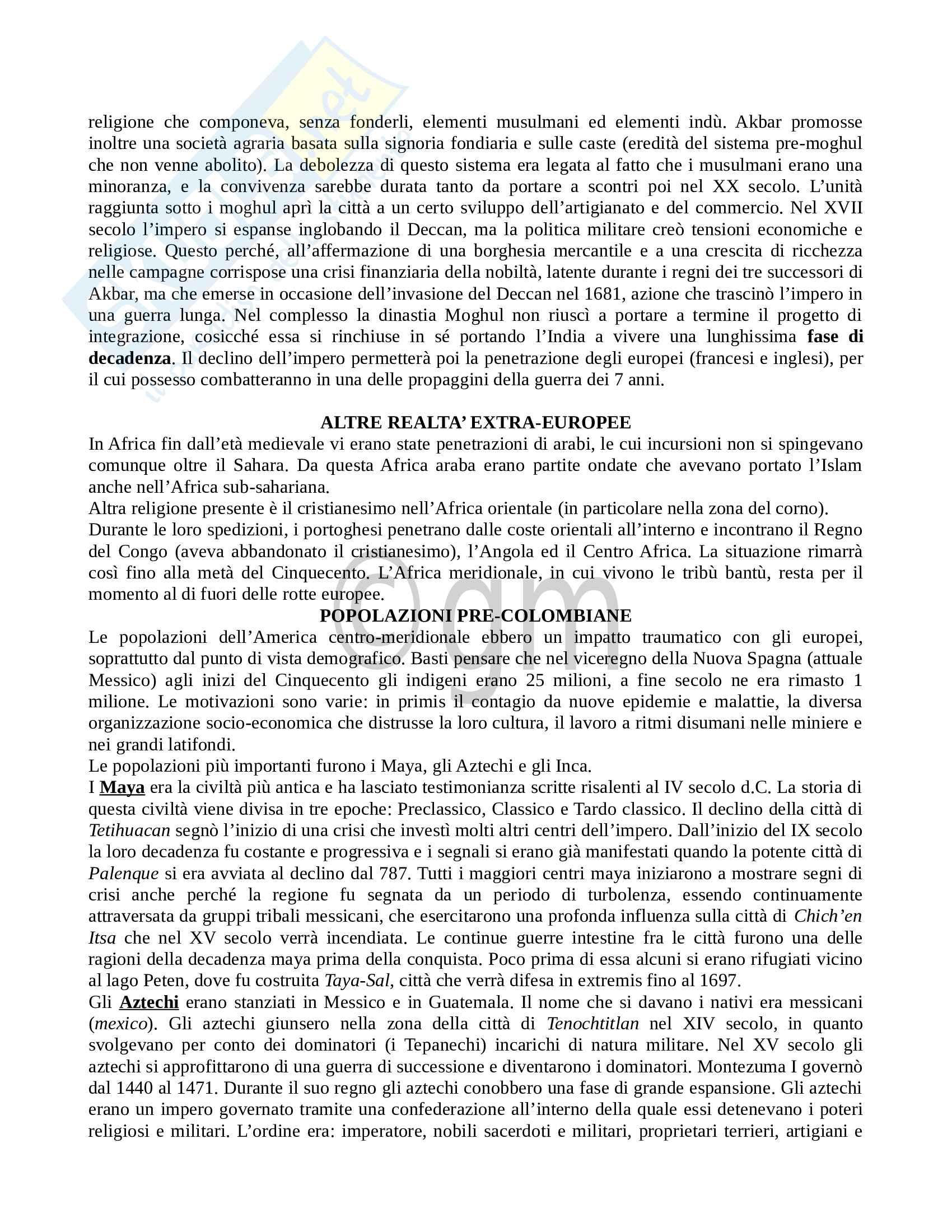 Appunti Storia moderna - completi e dettagliati Pag. 16