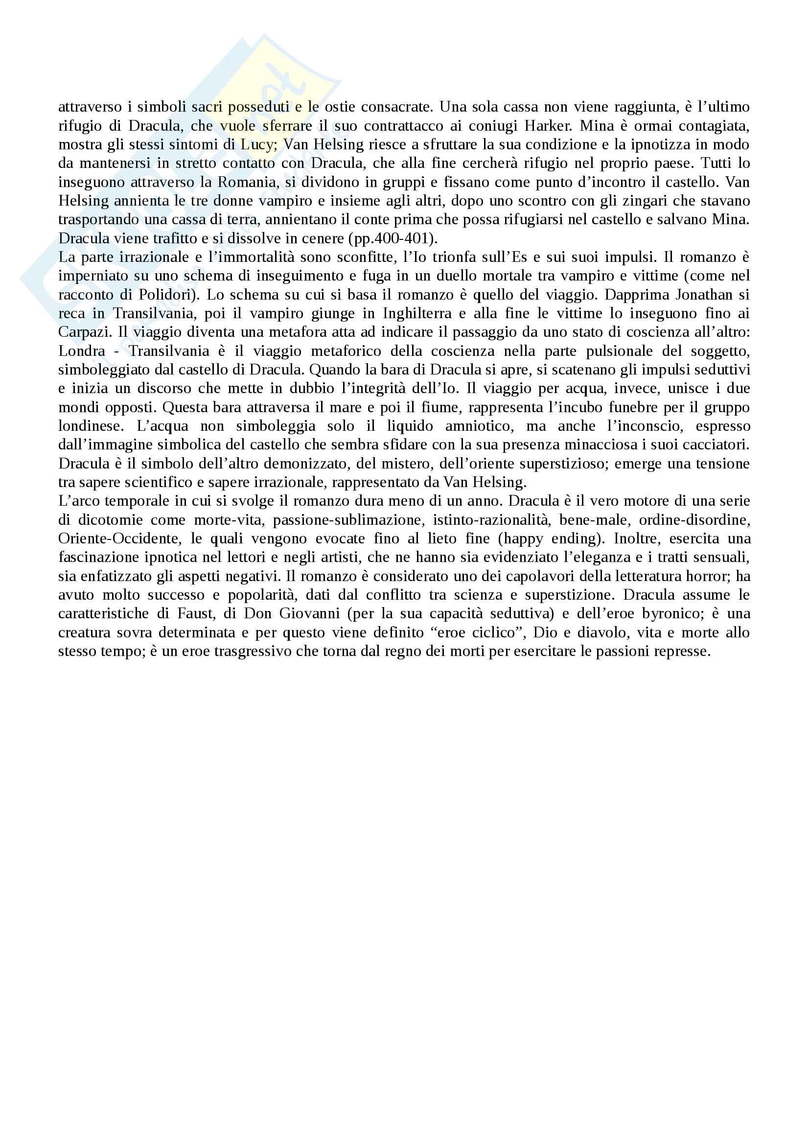 """""""Dracula"""": analisi approfondita del testo e contesto - Letteratura Inglese Pag. 11"""