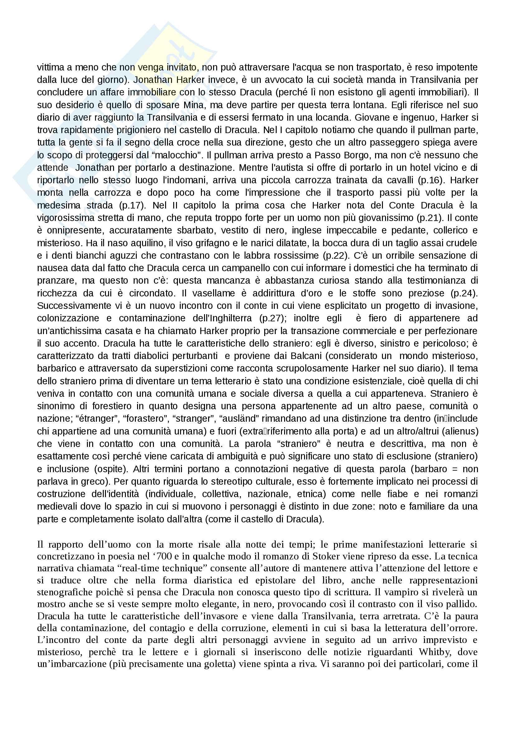 """""""Dracula"""": analisi approfondita del testo e contesto - Letteratura Inglese Pag. 2"""