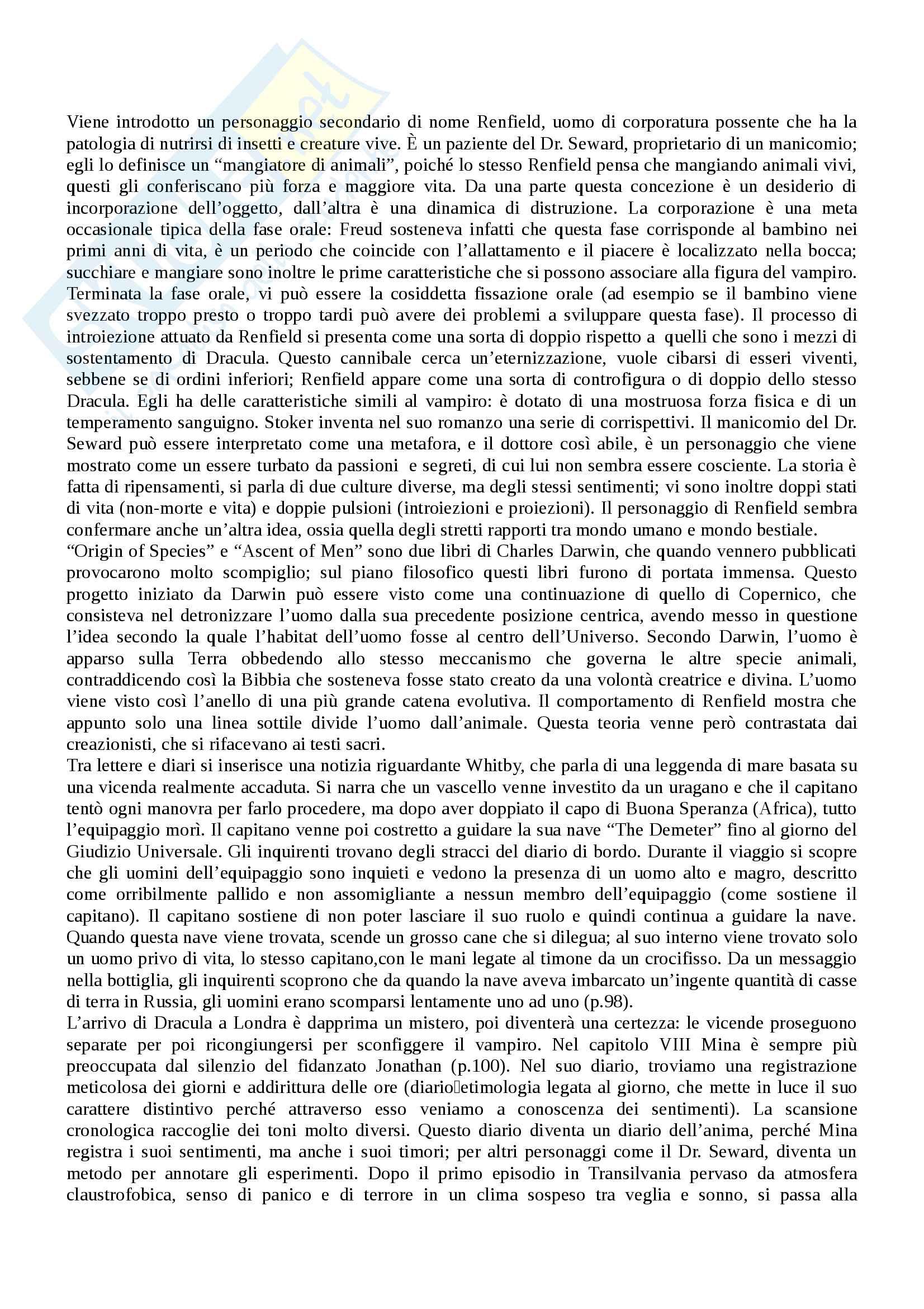 """""""Dracula"""": analisi approfondita del testo e contesto - Letteratura Inglese Pag. 6"""