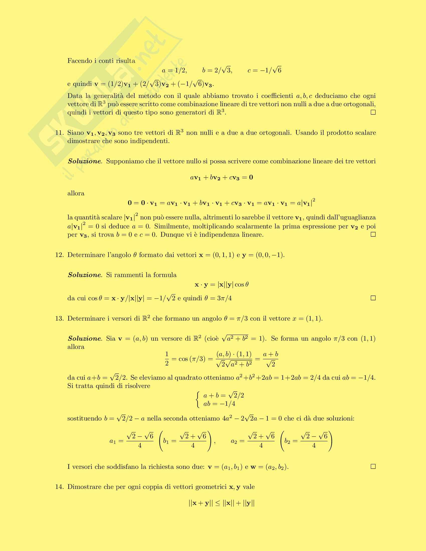 50 esercizi risolti di Algebra Lineare Pag. 6