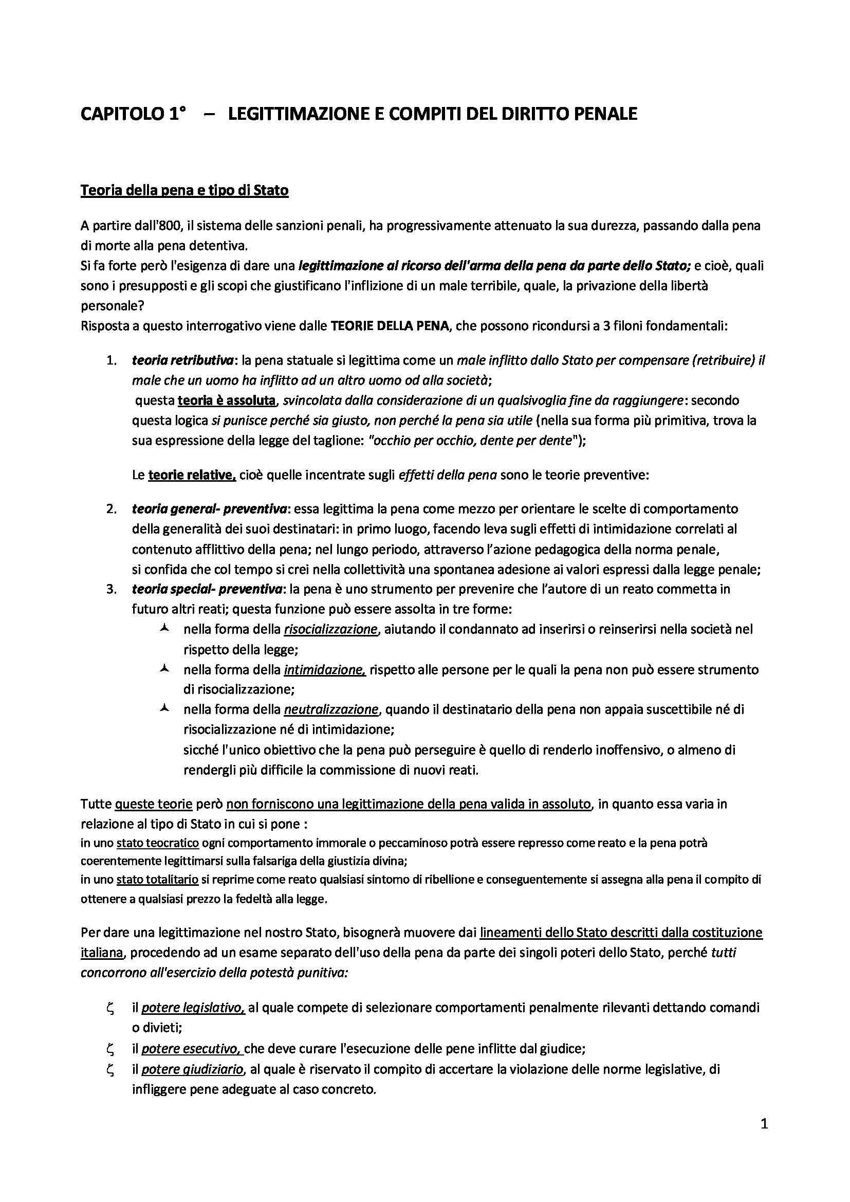 Riassunto esame Diritto penale, prof. D'Ascola, libro consigliato Diritto penale, Marinucci, Dolcini
