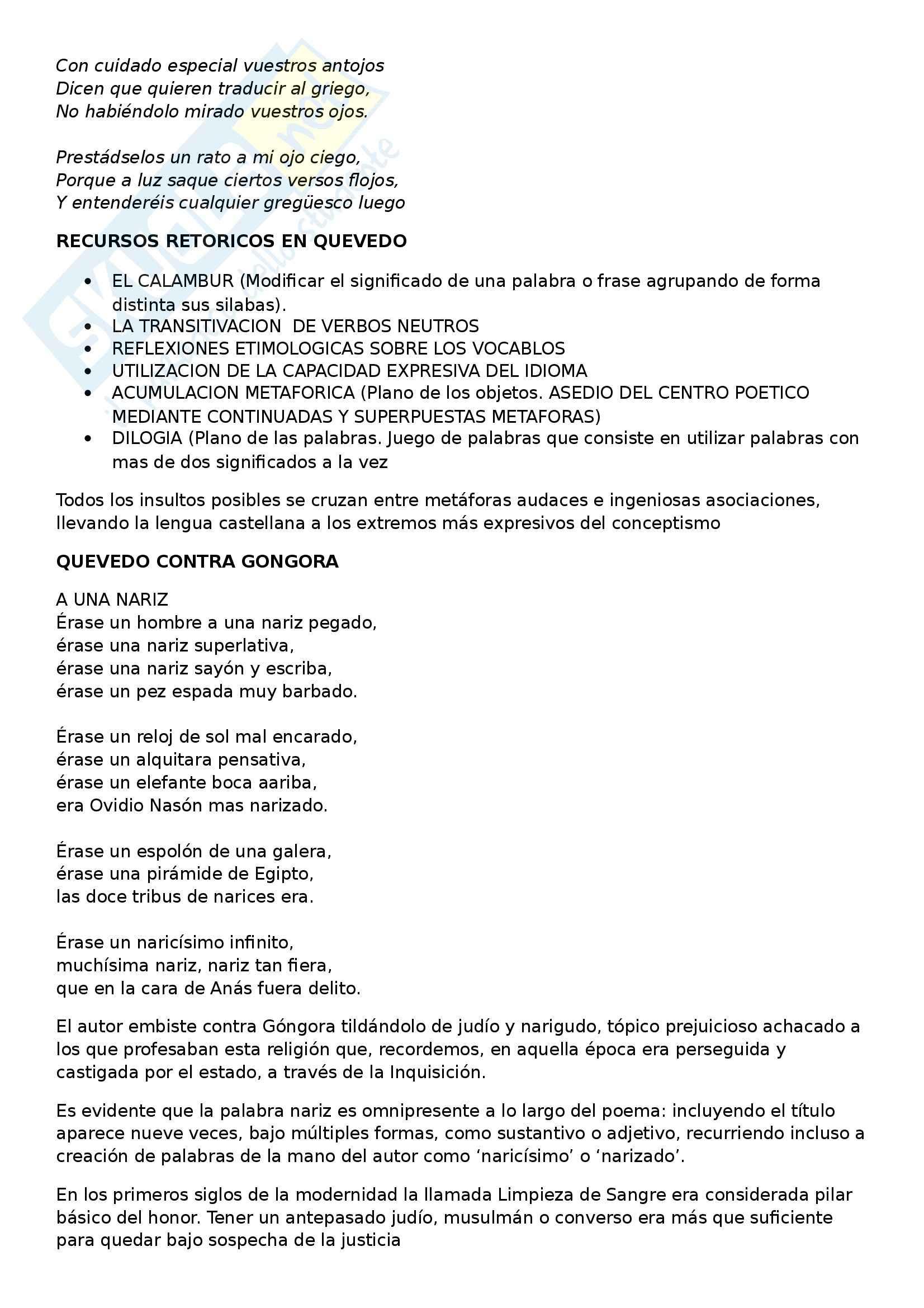 Letteratura spagnola - Quevedo vs Gongora Pag. 2