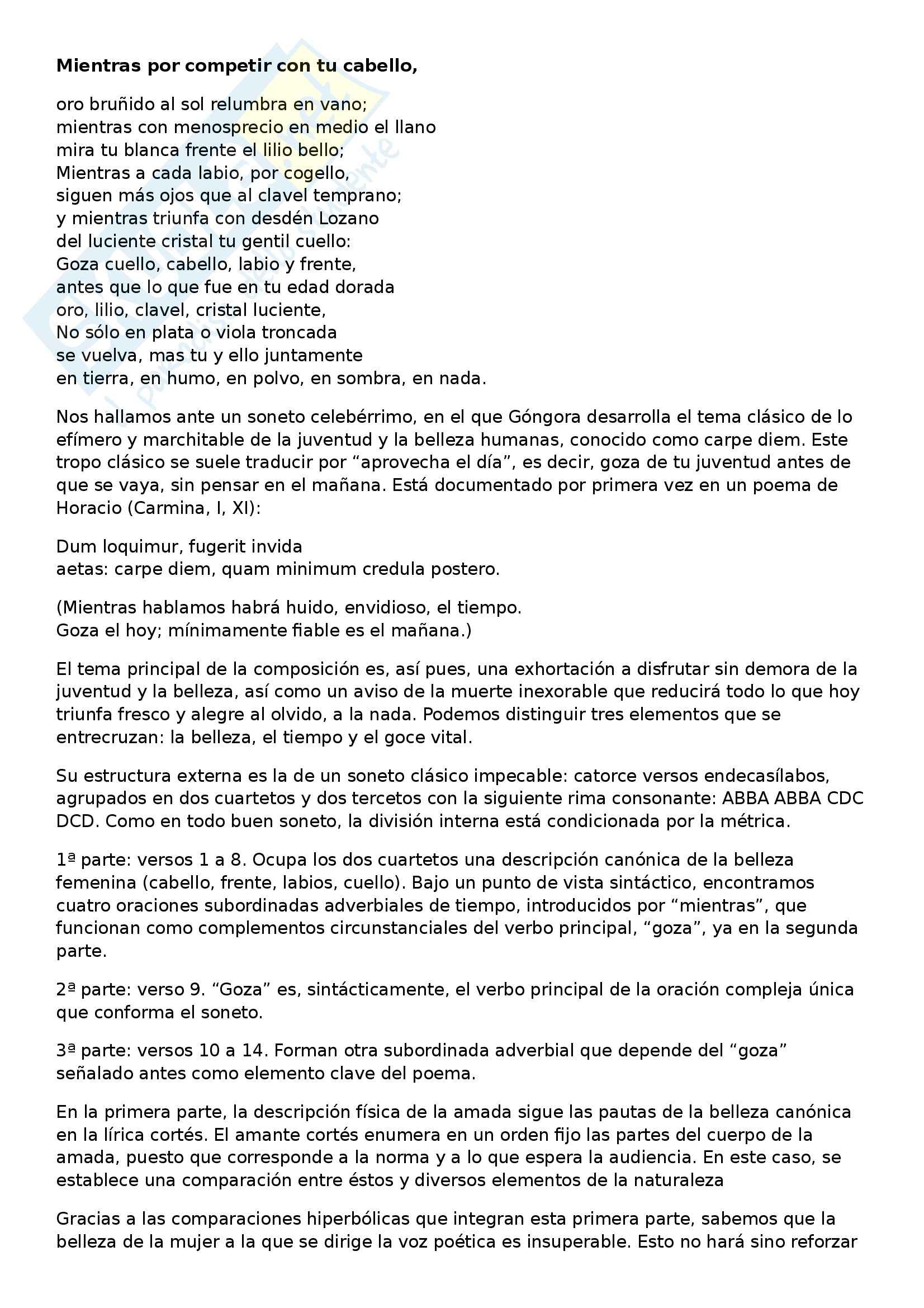 Letteratura spagnola - Quevedo vs Gongora Pag. 6