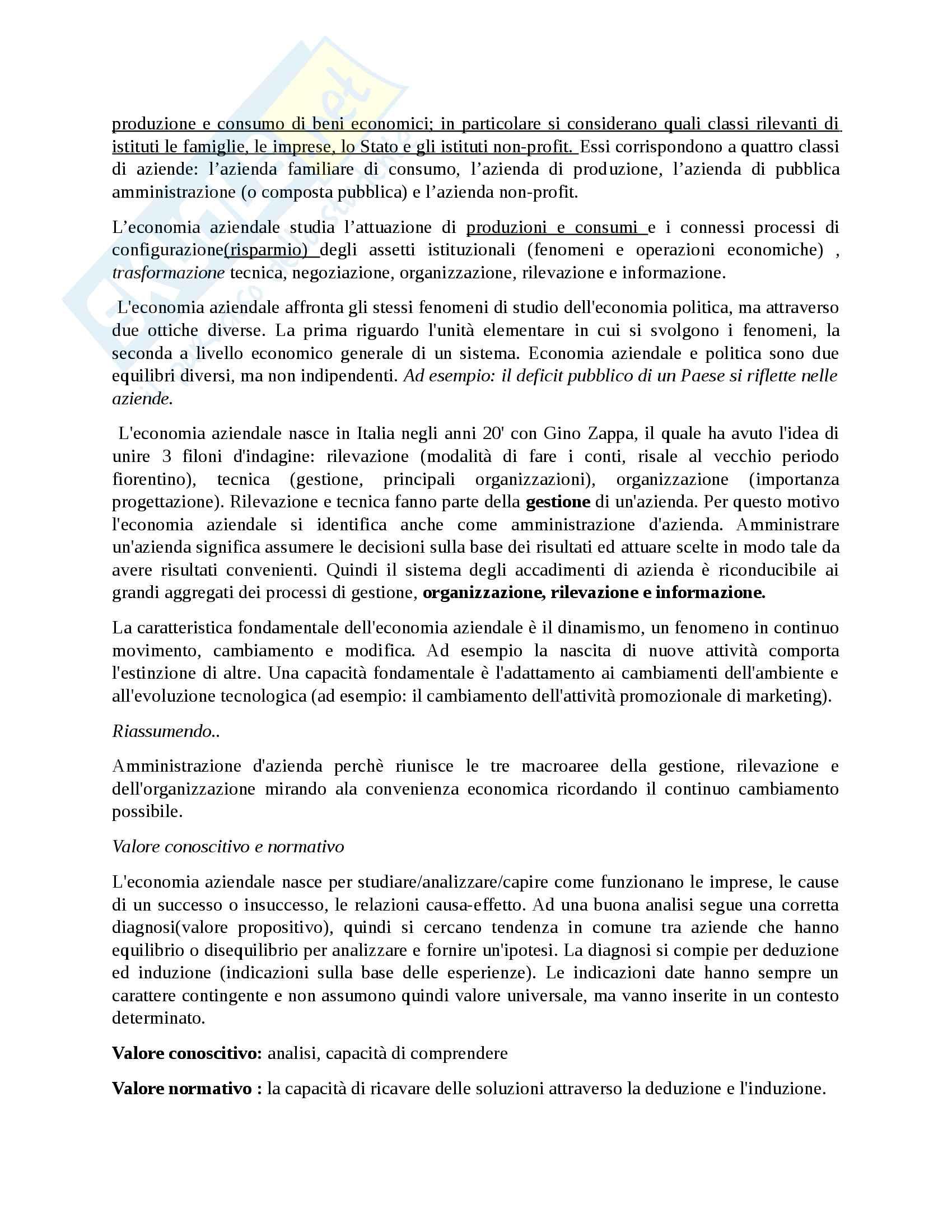Economia Aziendale Pag. 11