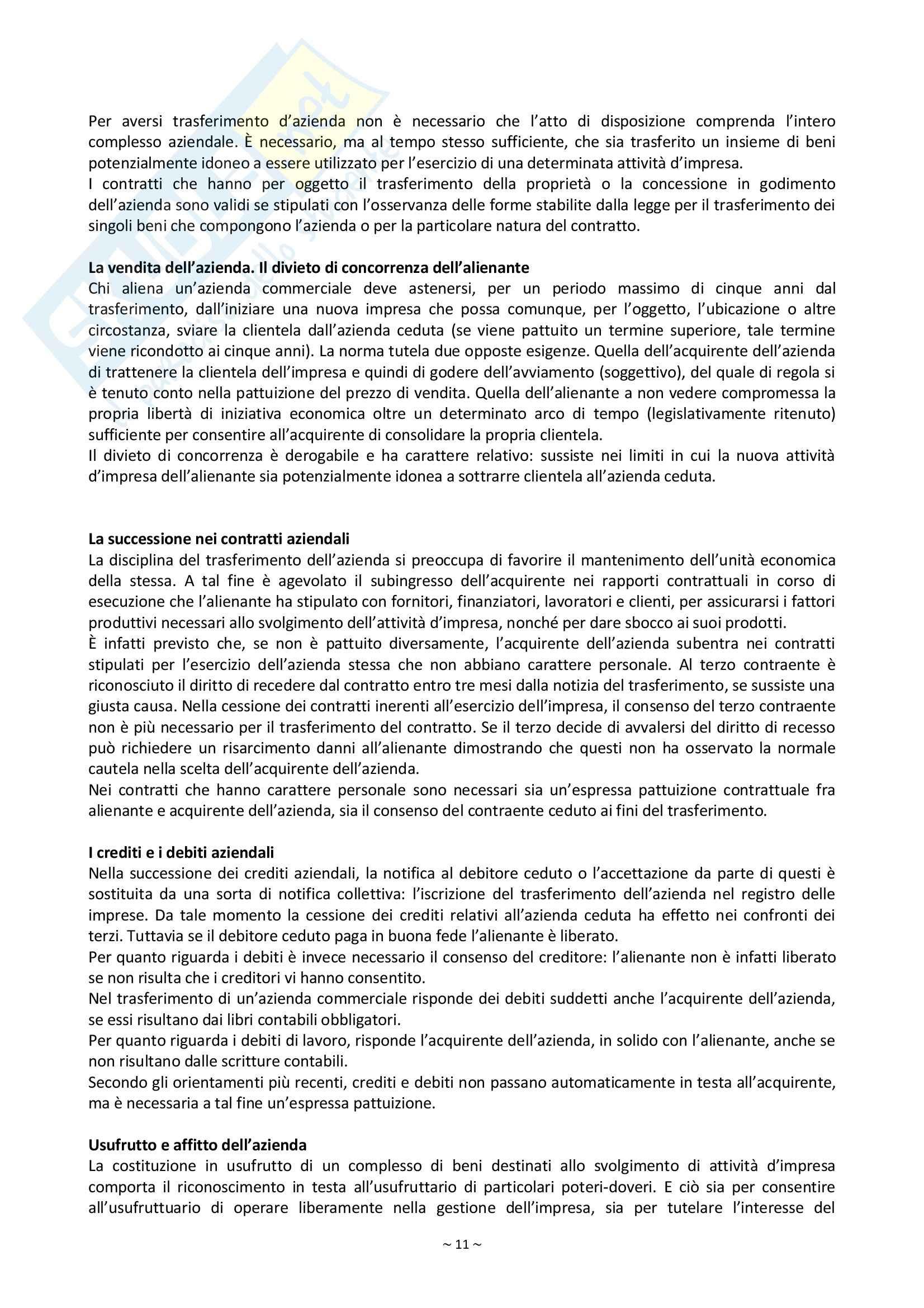 Riassunto esame Diritto Commerciale, prof. Palmieri, libro consigliato Manuale di Diritto Commerciale, Campobasso Pag. 11