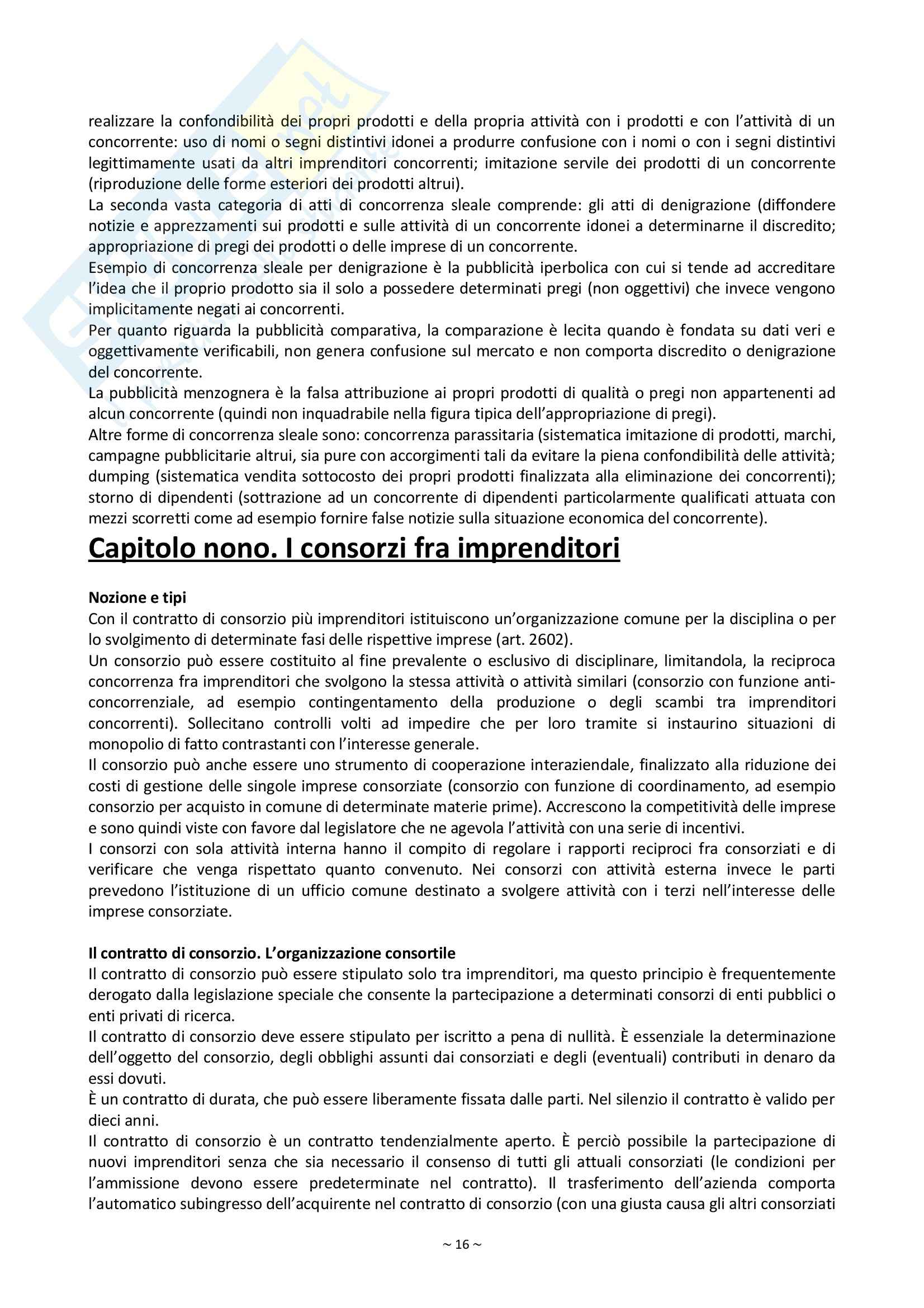 Riassunto esame Diritto Commerciale, prof. Palmieri, libro consigliato Manuale di Diritto Commerciale, Campobasso Pag. 16