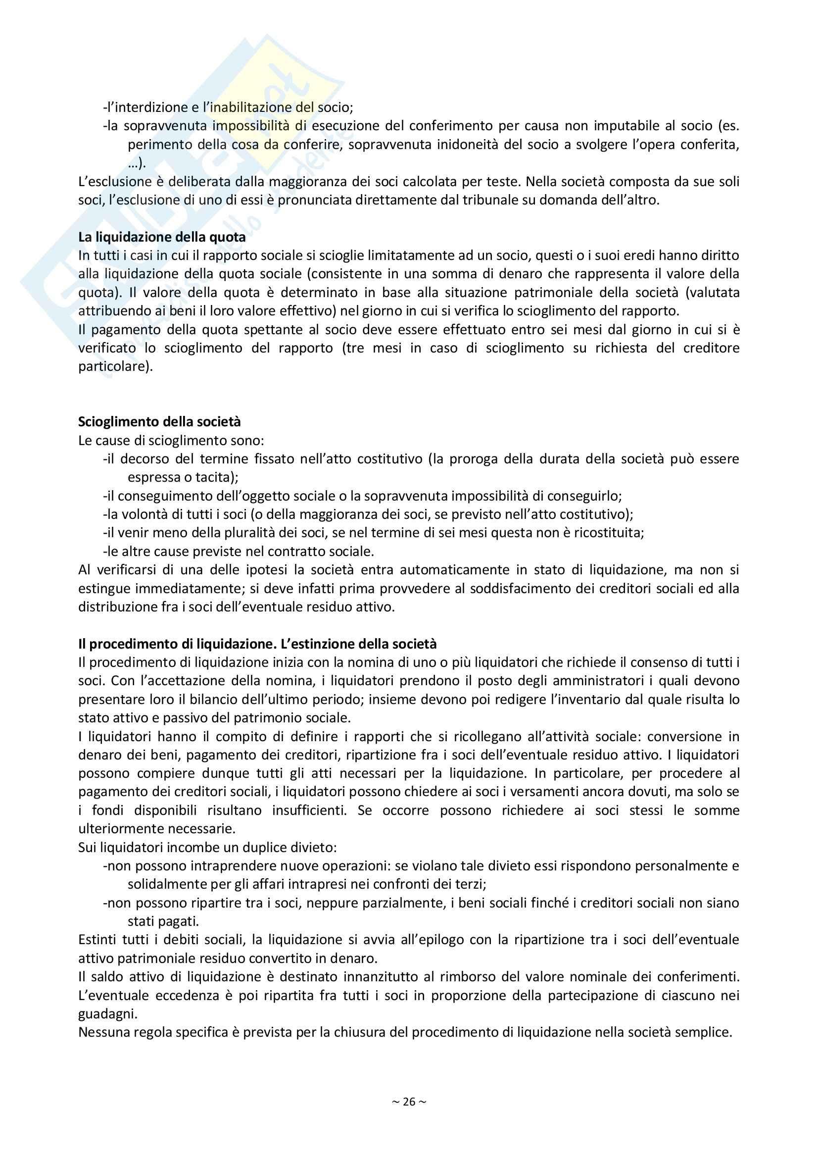 Riassunto esame Diritto Commerciale, prof. Palmieri, libro consigliato Manuale di Diritto Commerciale, Campobasso Pag. 26