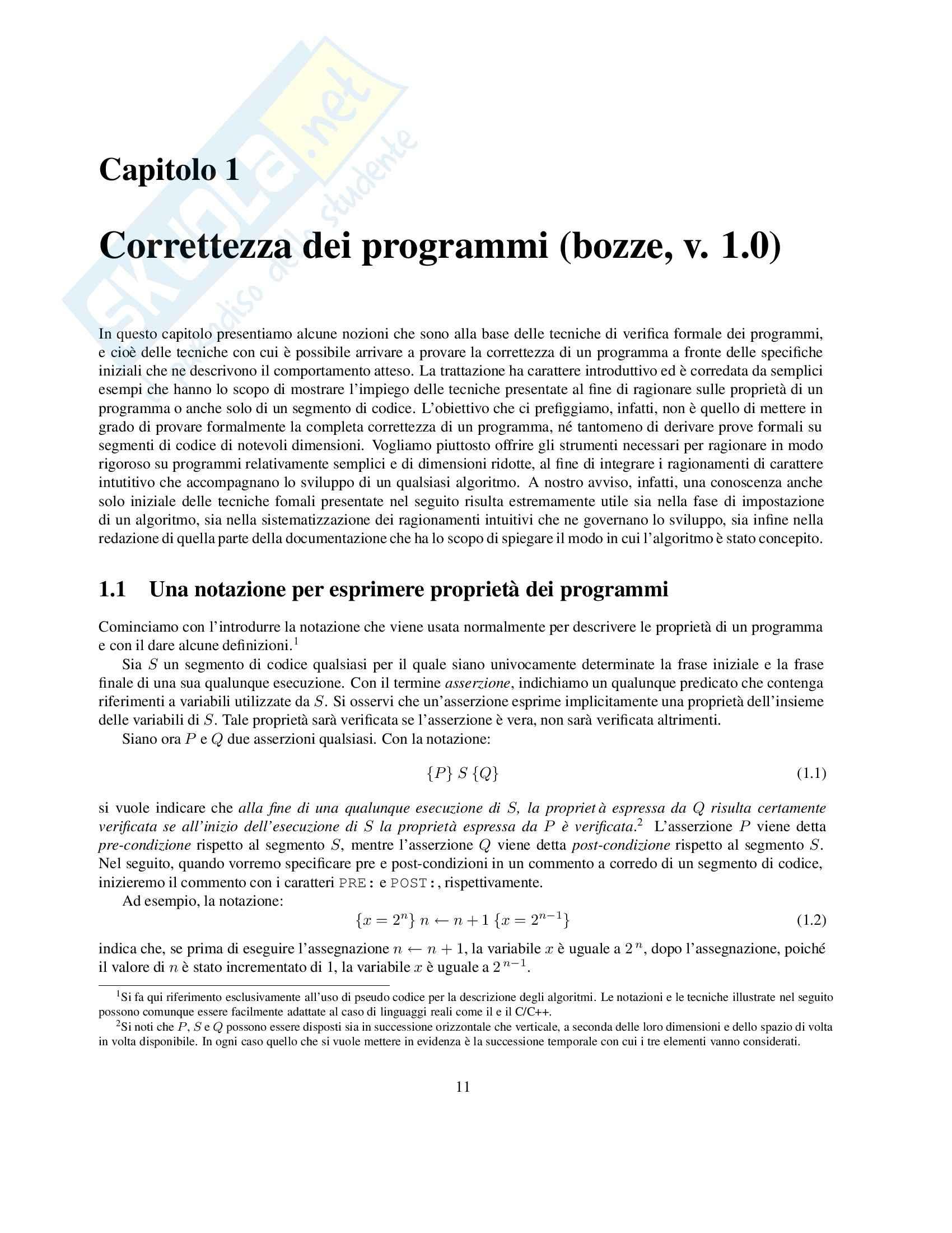 Algoritmi e strutture dati Pag. 11