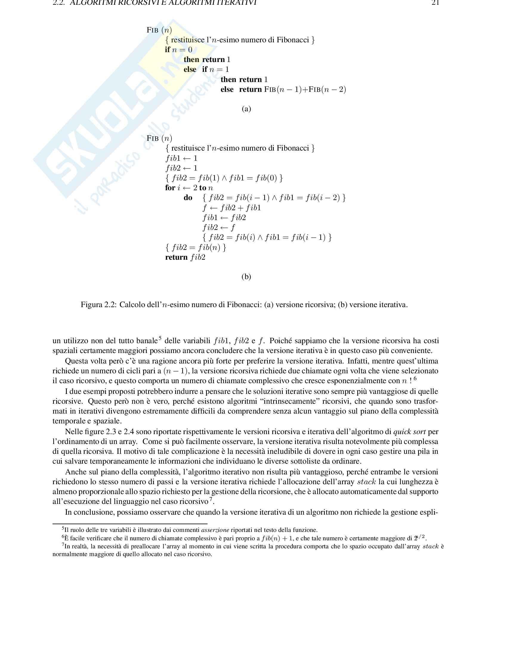 Algoritmi e strutture dati Pag. 21