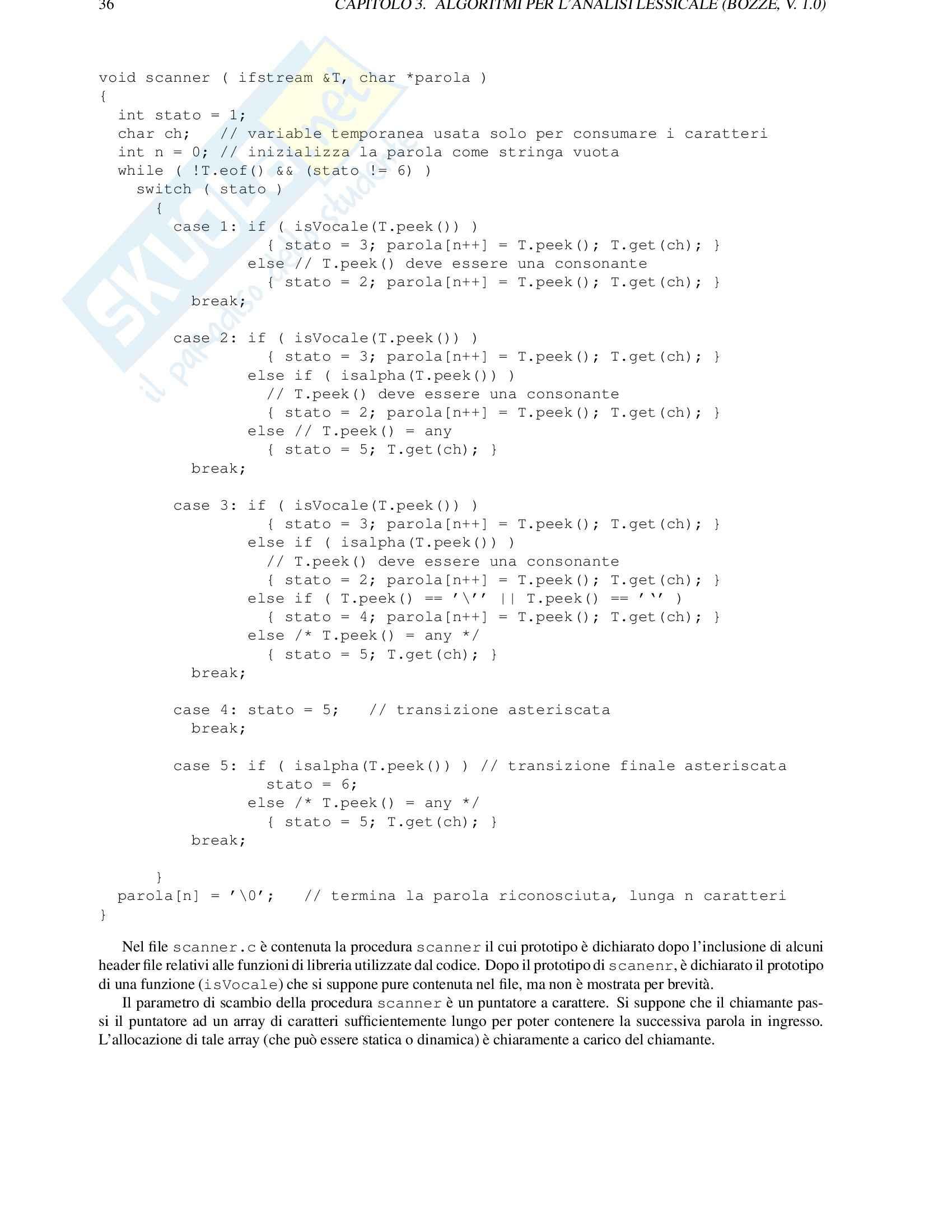 Algoritmi e strutture dati Pag. 36