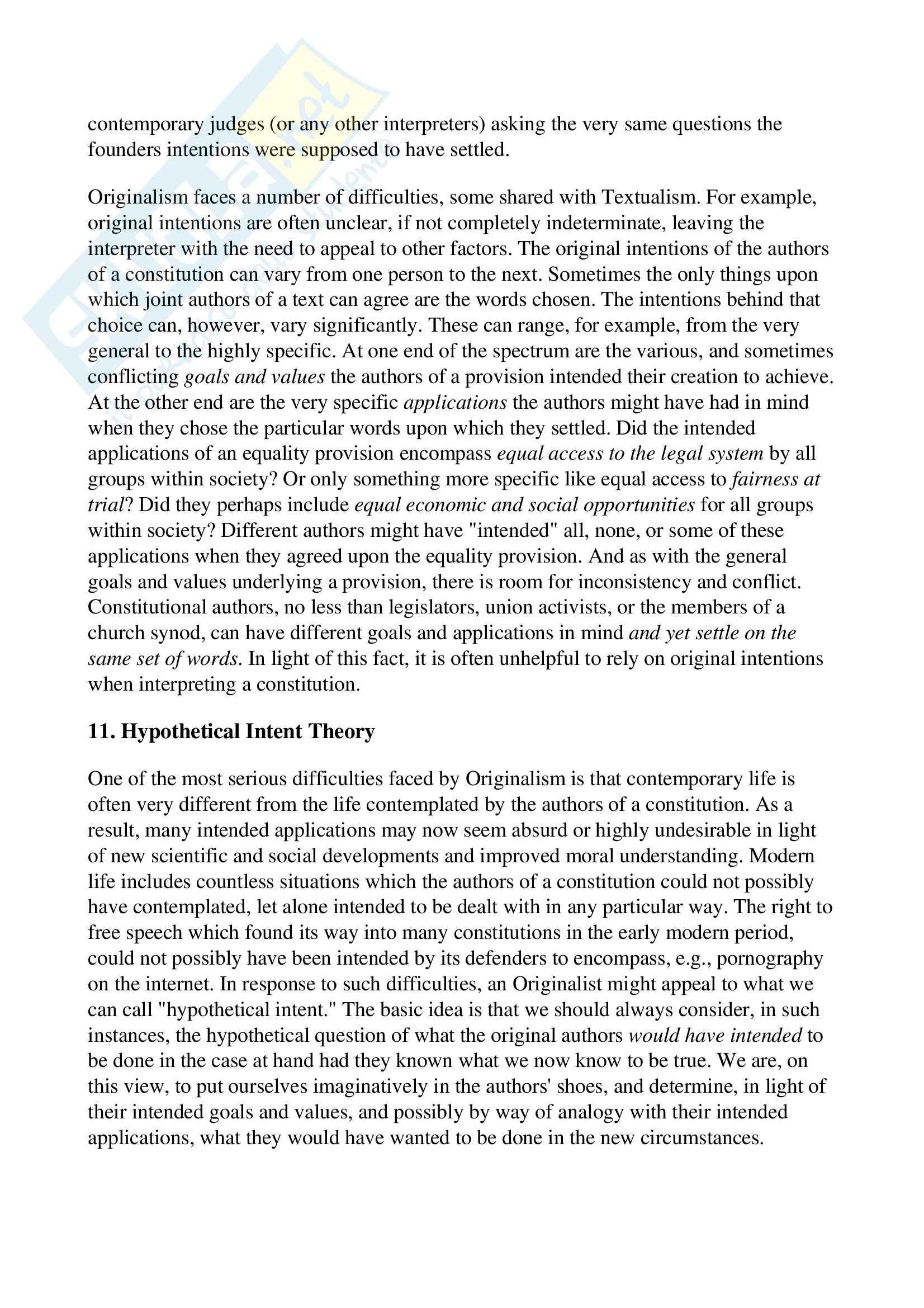 Costituzionalismo - Definizione Pag. 11